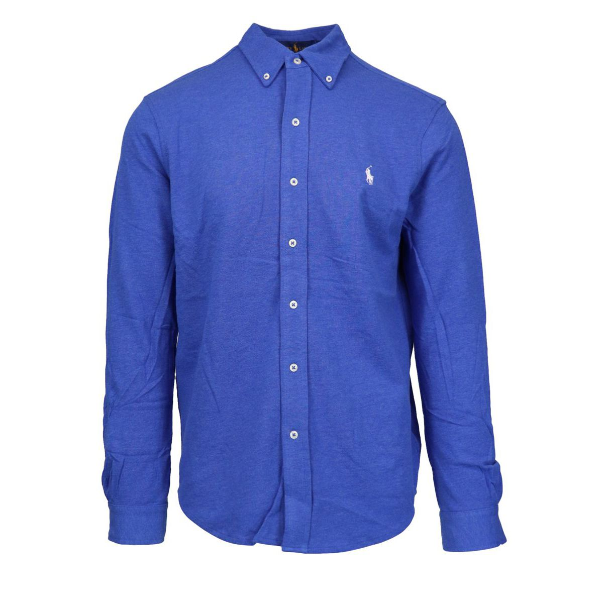 Regular-fit shirt in cotton piquèt with logo embroidery Blue Polo Ralph Lauren