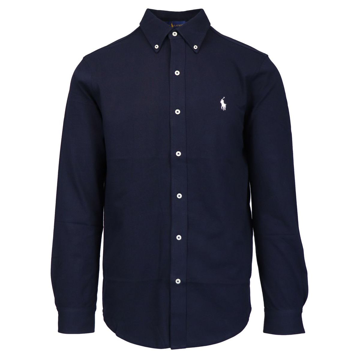 Regular-fit shirt in cotton piquèt with logo embroidery Navy Polo Ralph Lauren