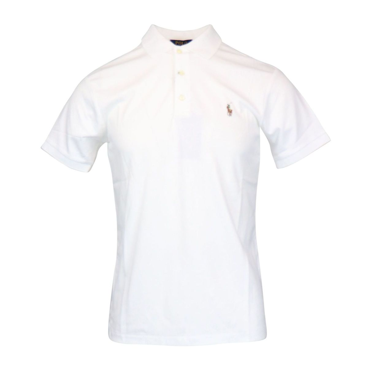 Slim-fit cotton polo shirt with logo embroidery White Polo Ralph Lauren