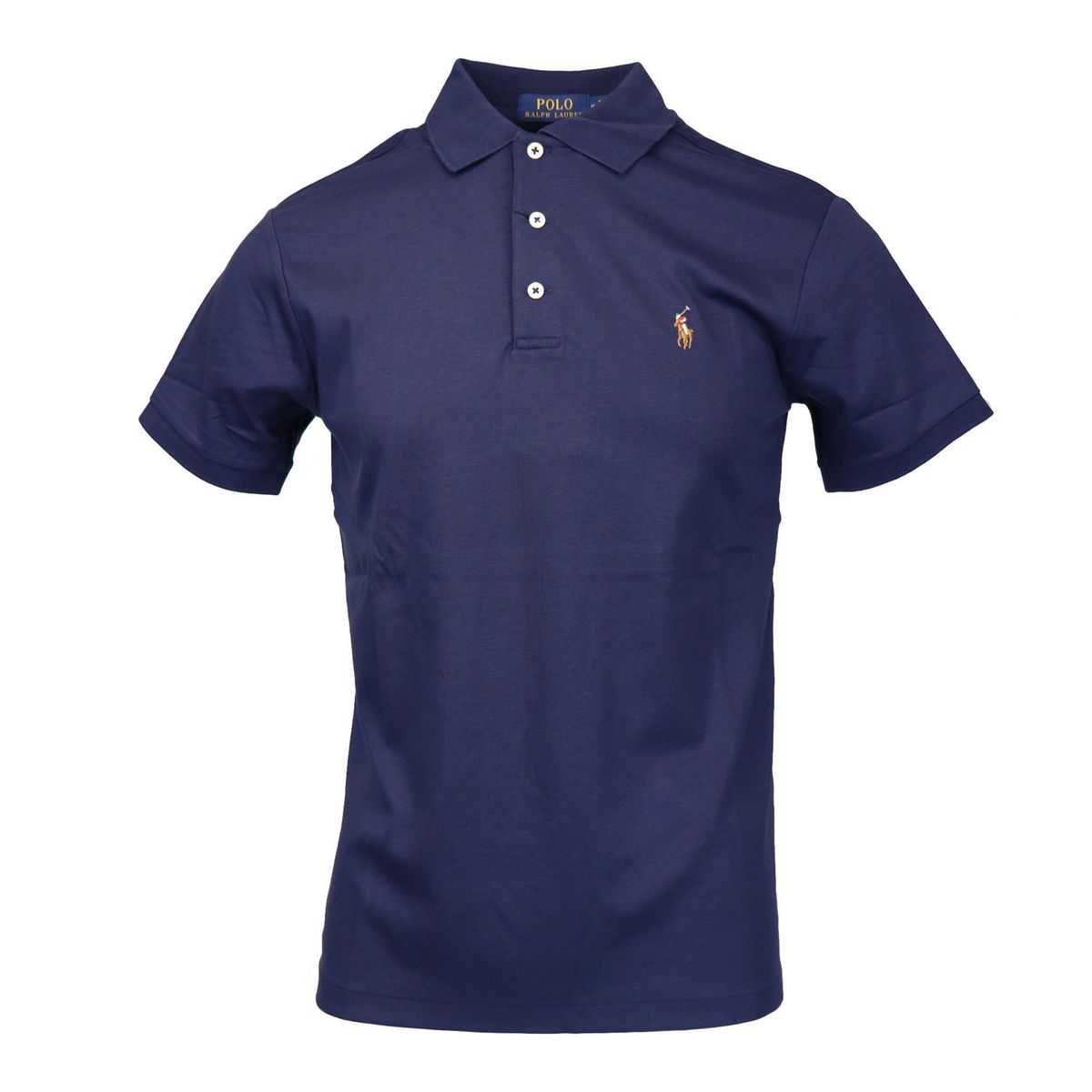 Slim-fit cotton polo shirt with logo embroidery Navy Polo Ralph Lauren