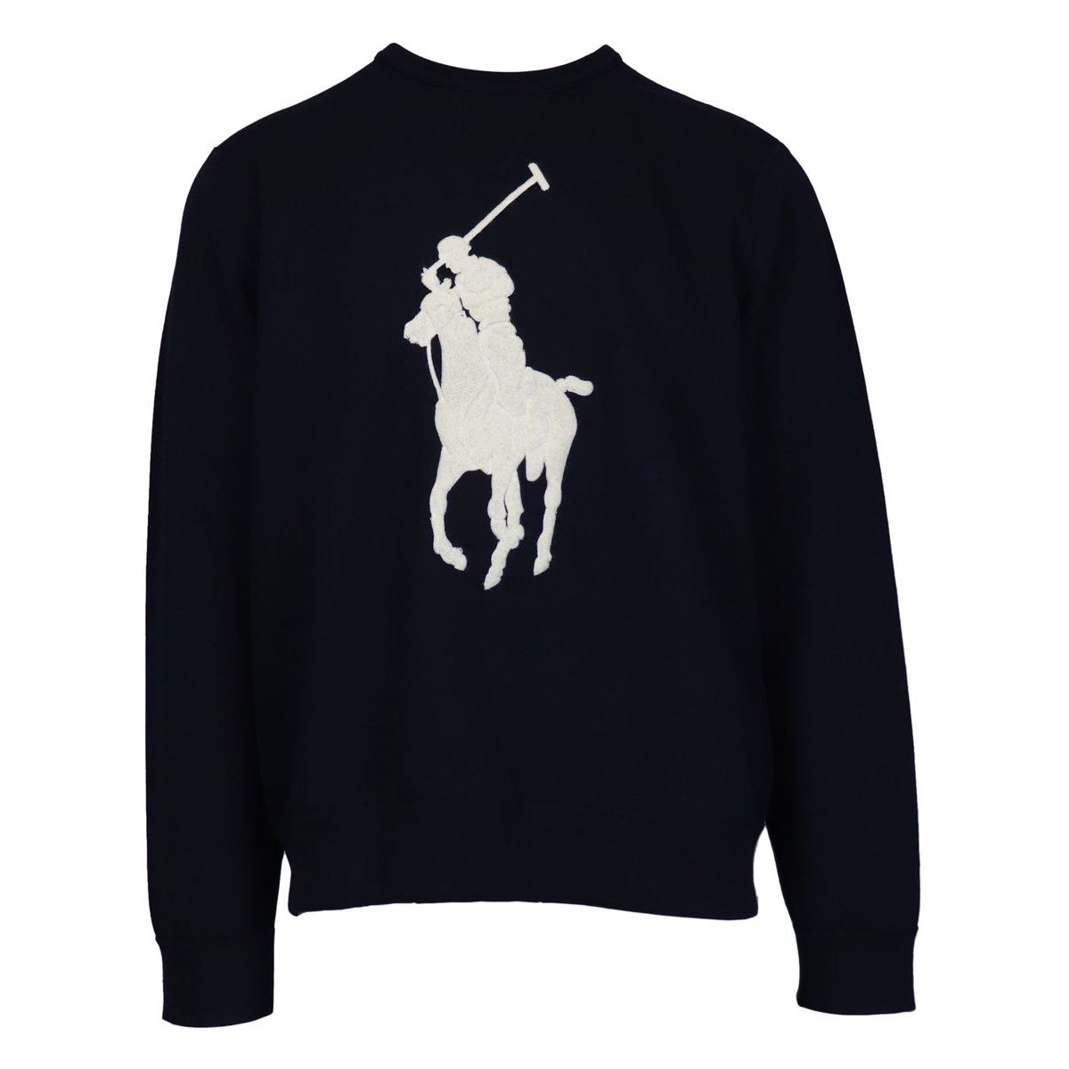 Cotton sweatshirt with maxi sponge logo Navy Polo Ralph Lauren
