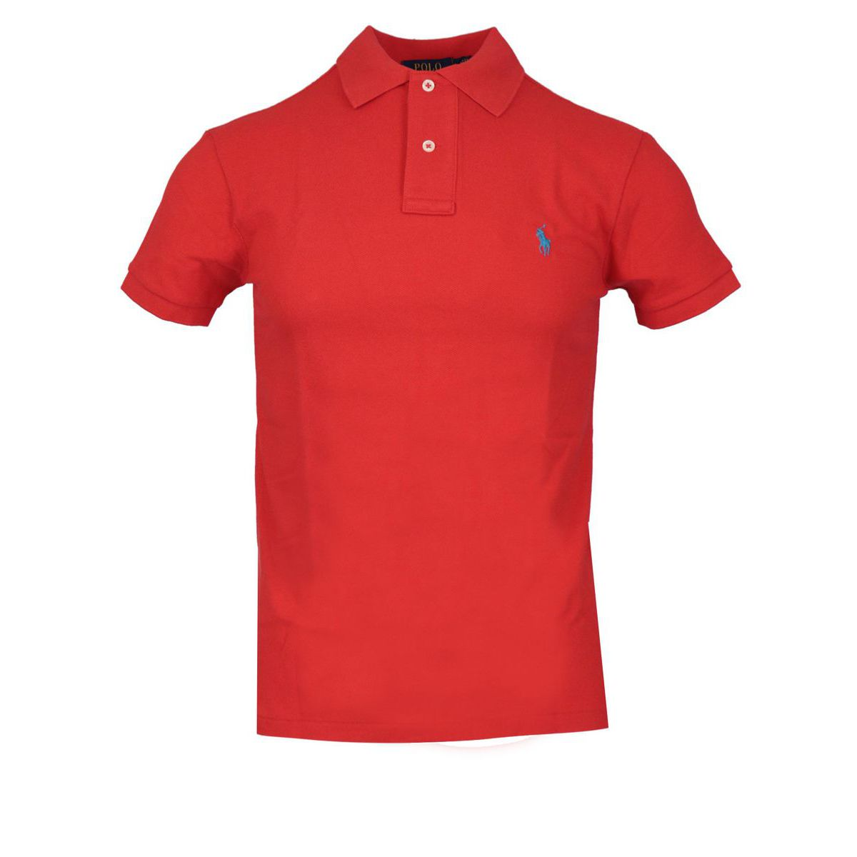 Slim-fit polo shirt In cotton piqué with logo Red Polo Ralph Lauren