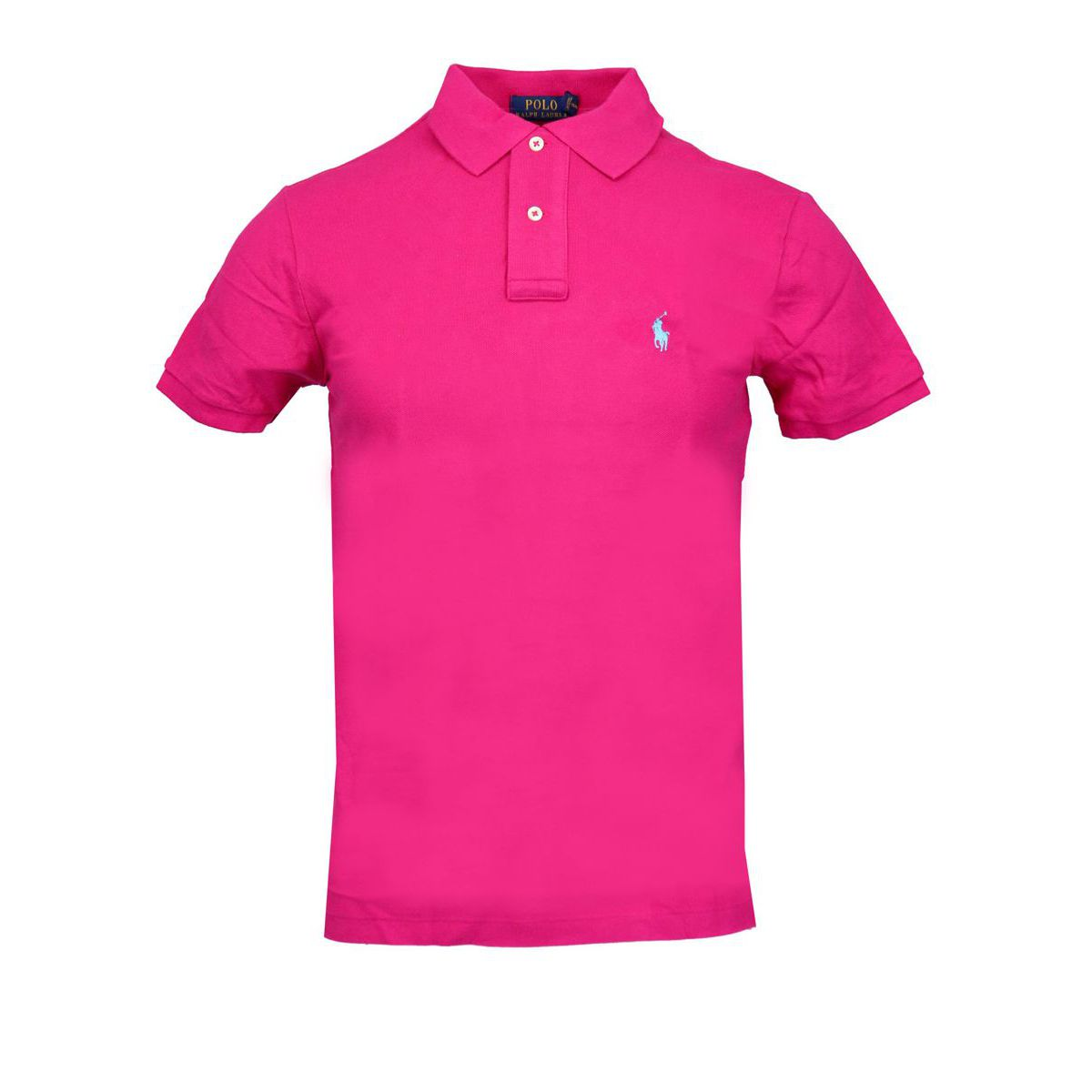 Slim-fit polo shirt In cotton piqué with logo Deep pink Polo Ralph Lauren