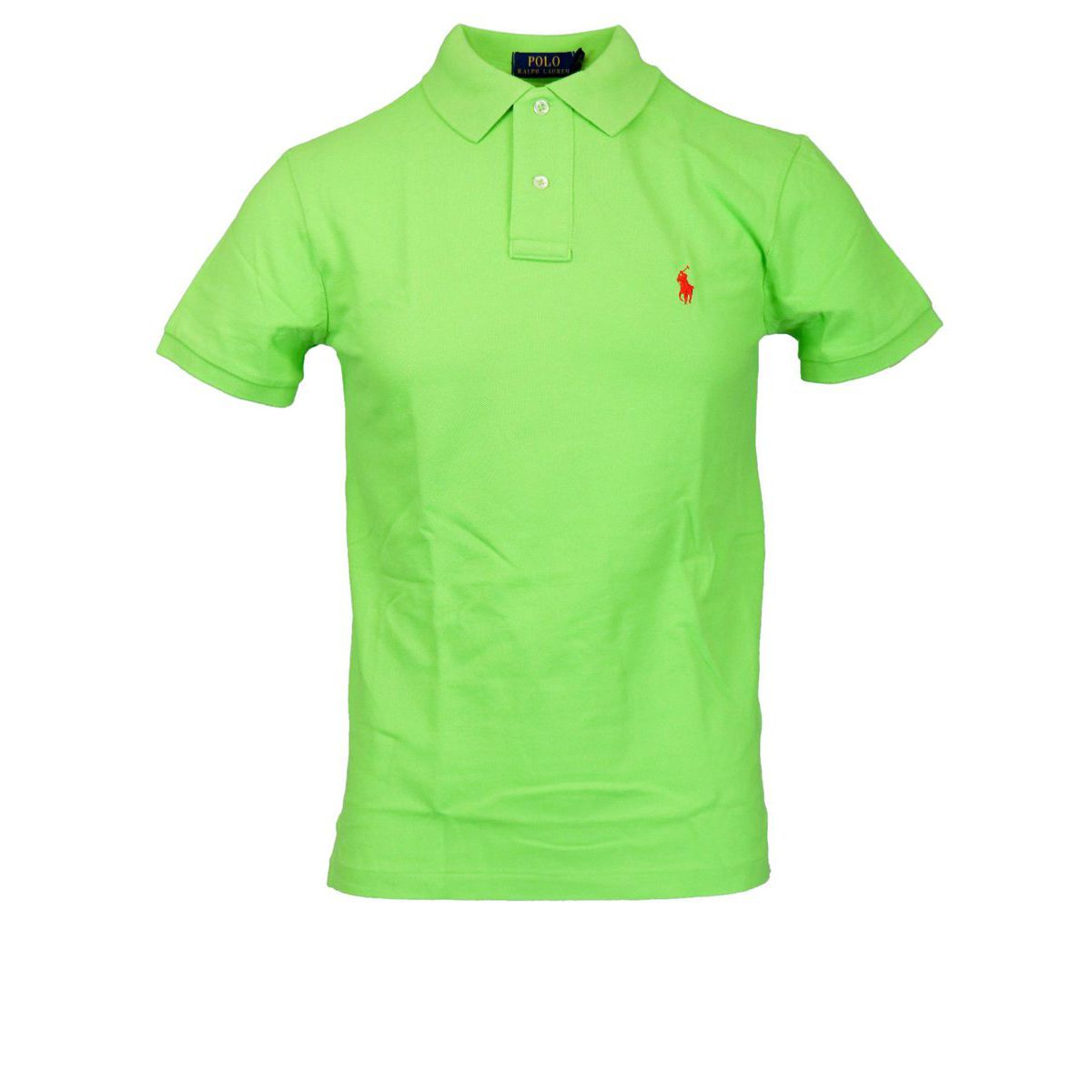 Slim-fit polo shirt In cotton piqué with logo Lime Polo Ralph Lauren