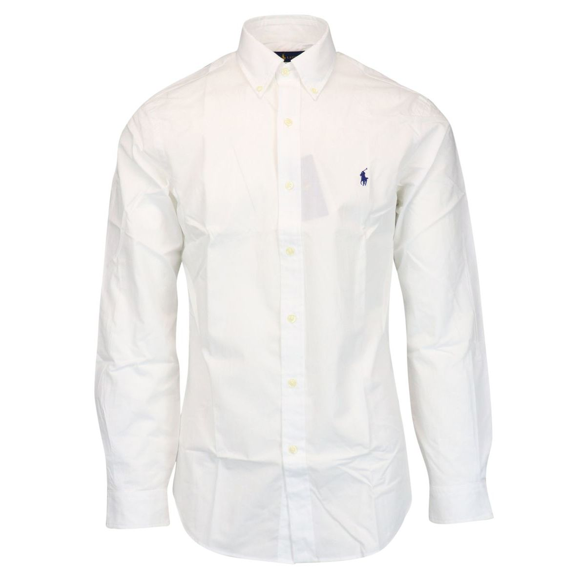 Slim-fit button-down cotton shirt White Polo Ralph Lauren