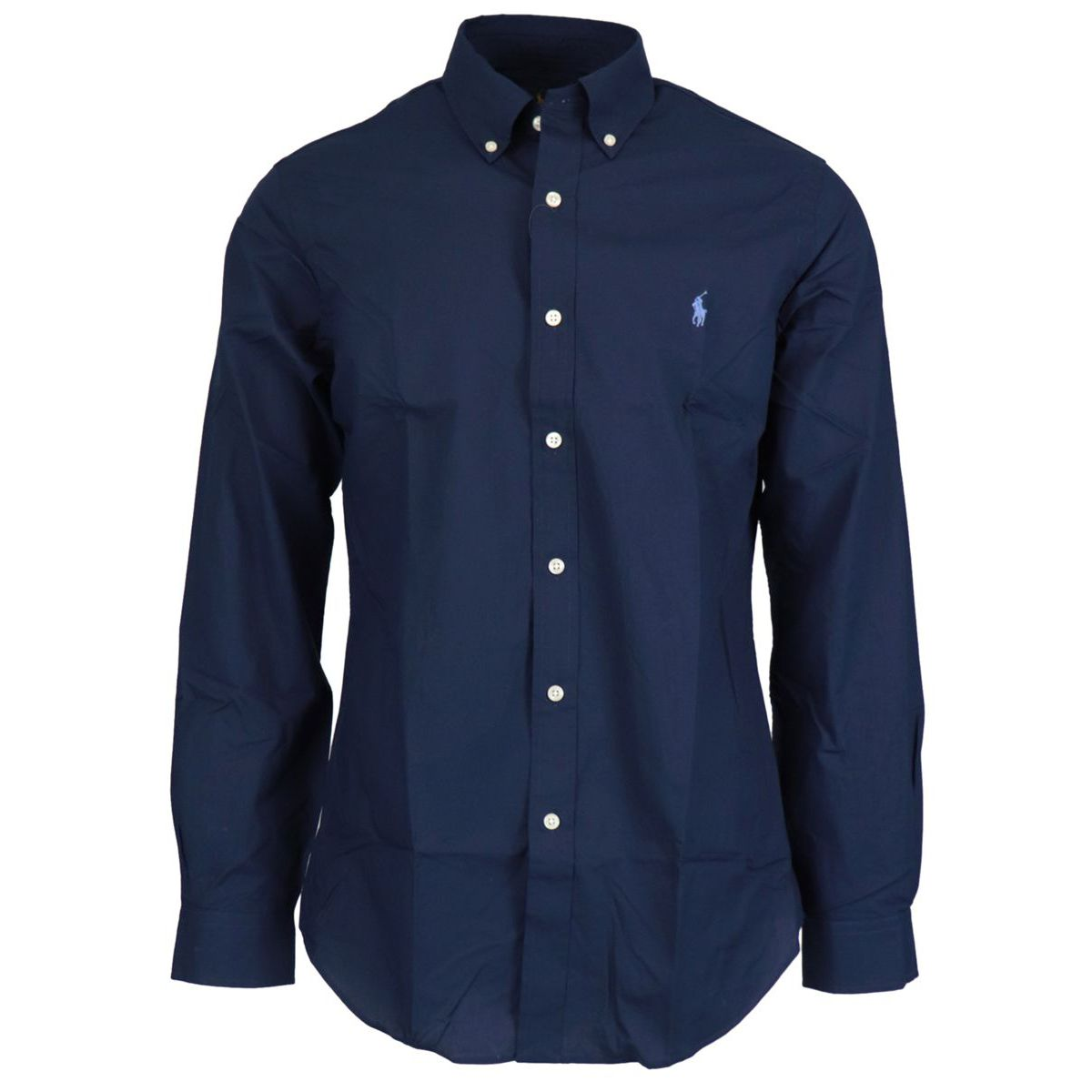 Slim-fit button-down cotton shirt Navy Polo Ralph Lauren