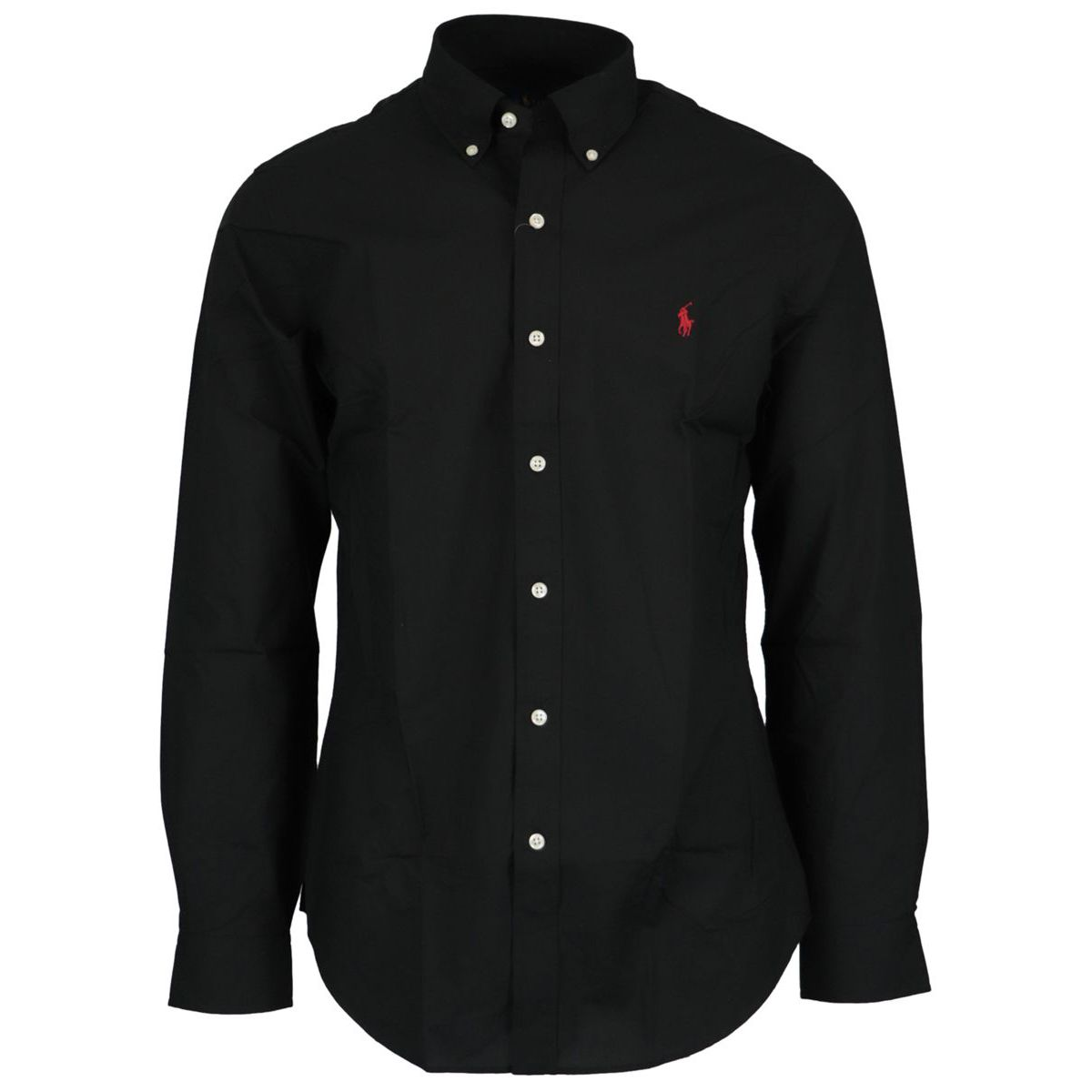 Slim-fit button-down cotton shirt Black Polo Ralph Lauren