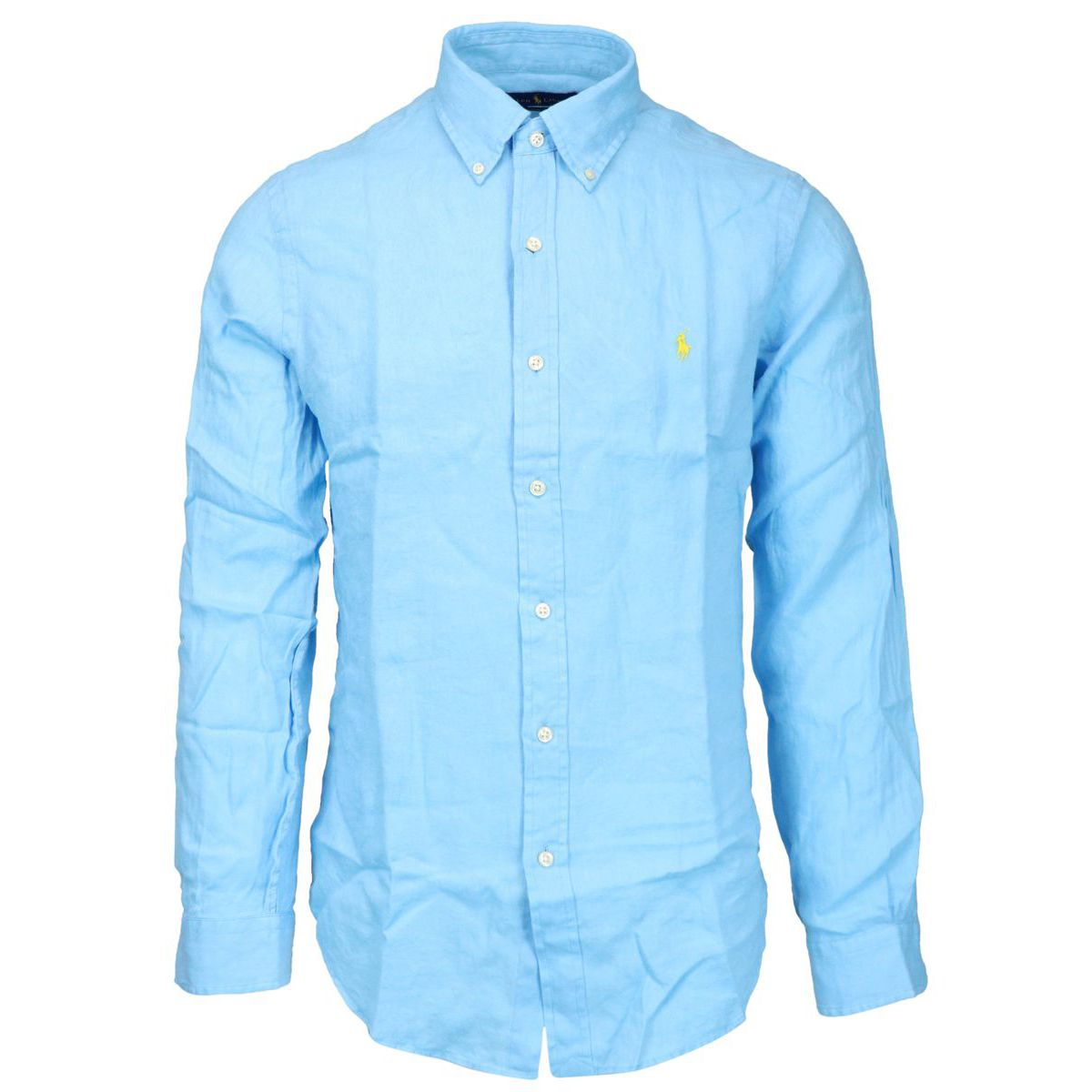 Slim-fit button-down linen shirt Light blue Polo Ralph Lauren