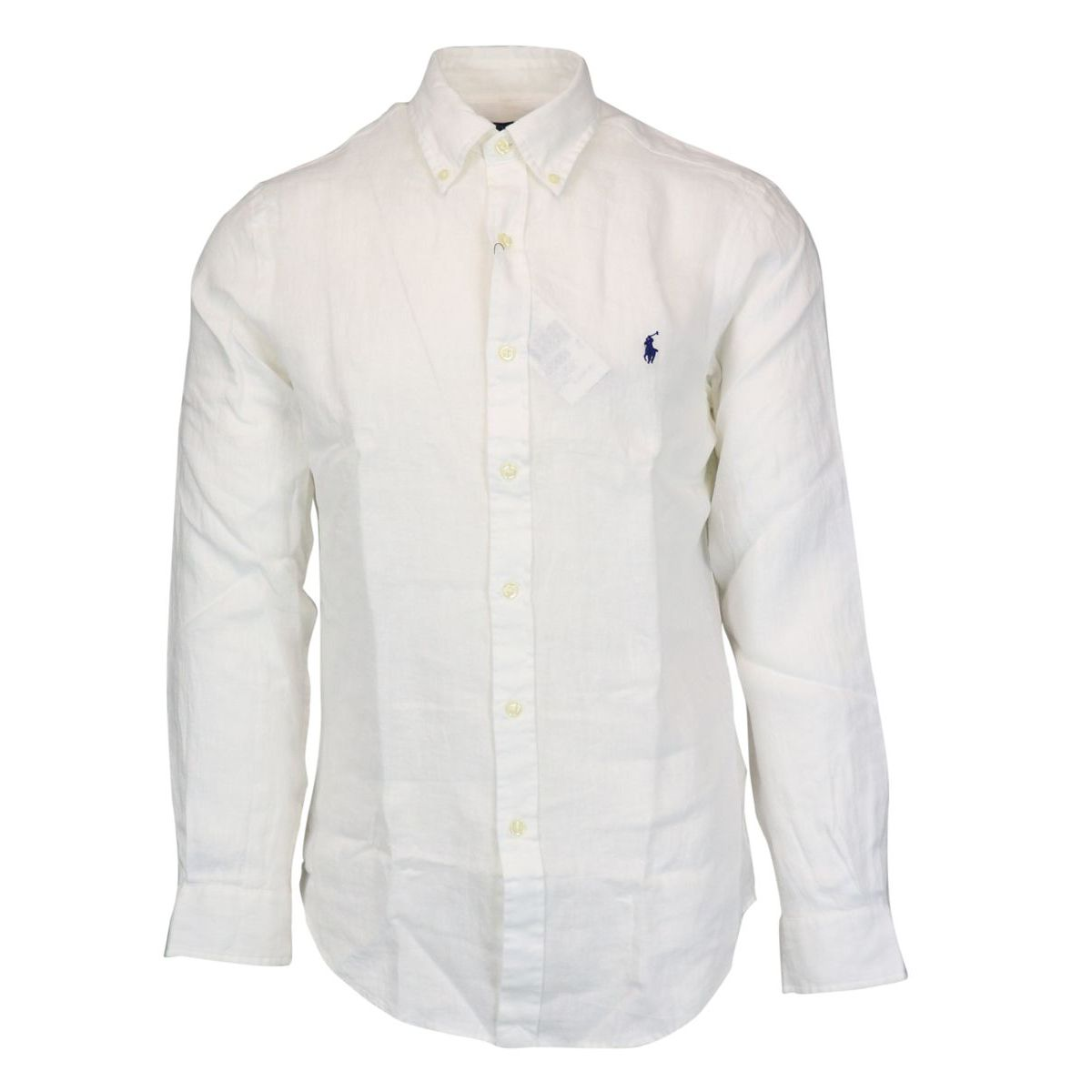 Slim-fit button-down linen shirt White Polo Ralph Lauren