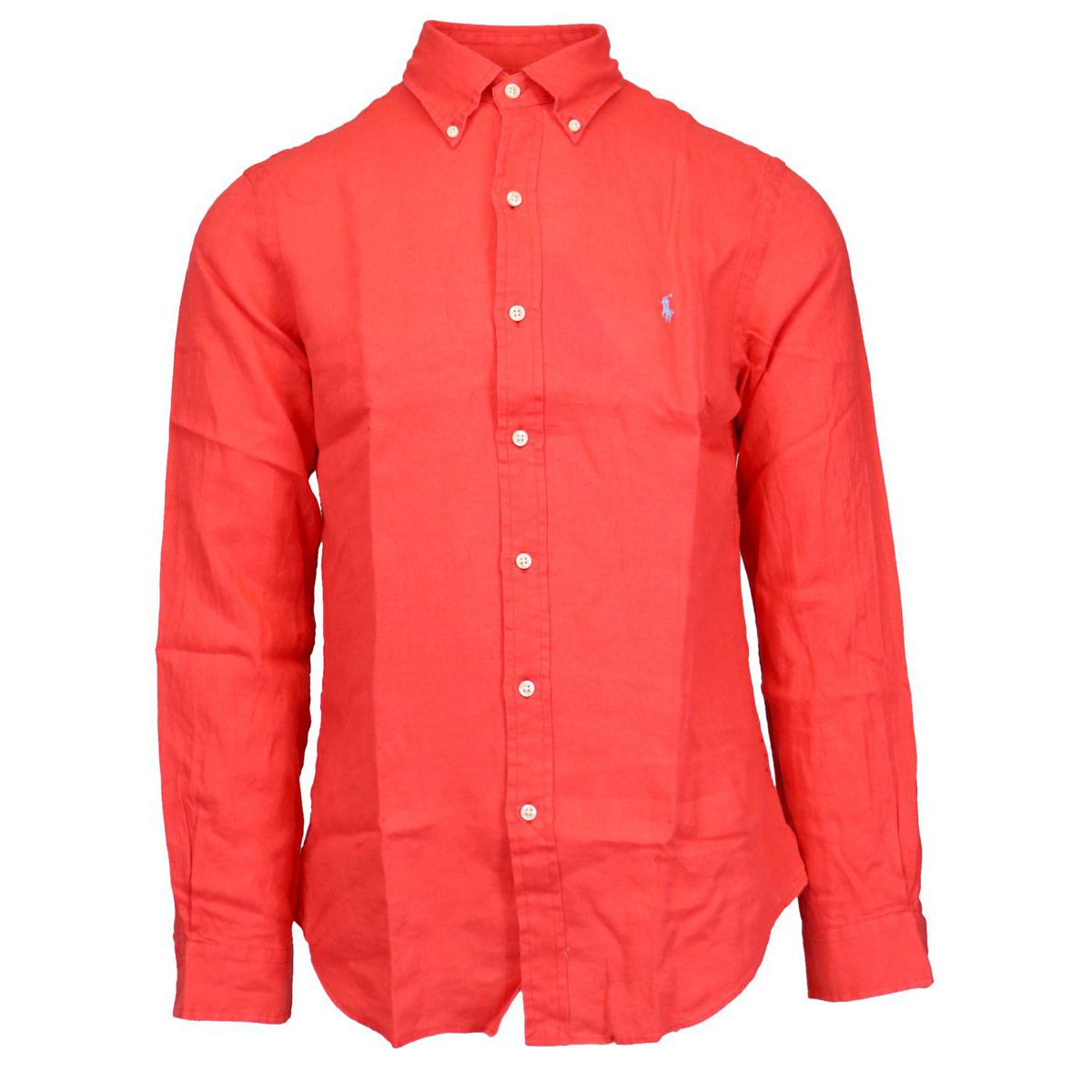 Slim-fit button-down linen shirt Coral Polo Ralph Lauren