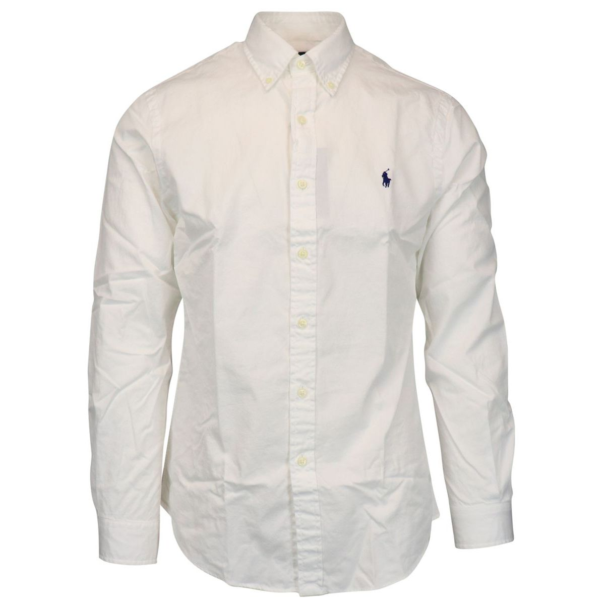 Button-down shirt in slim-fit cotton White Polo Ralph Lauren