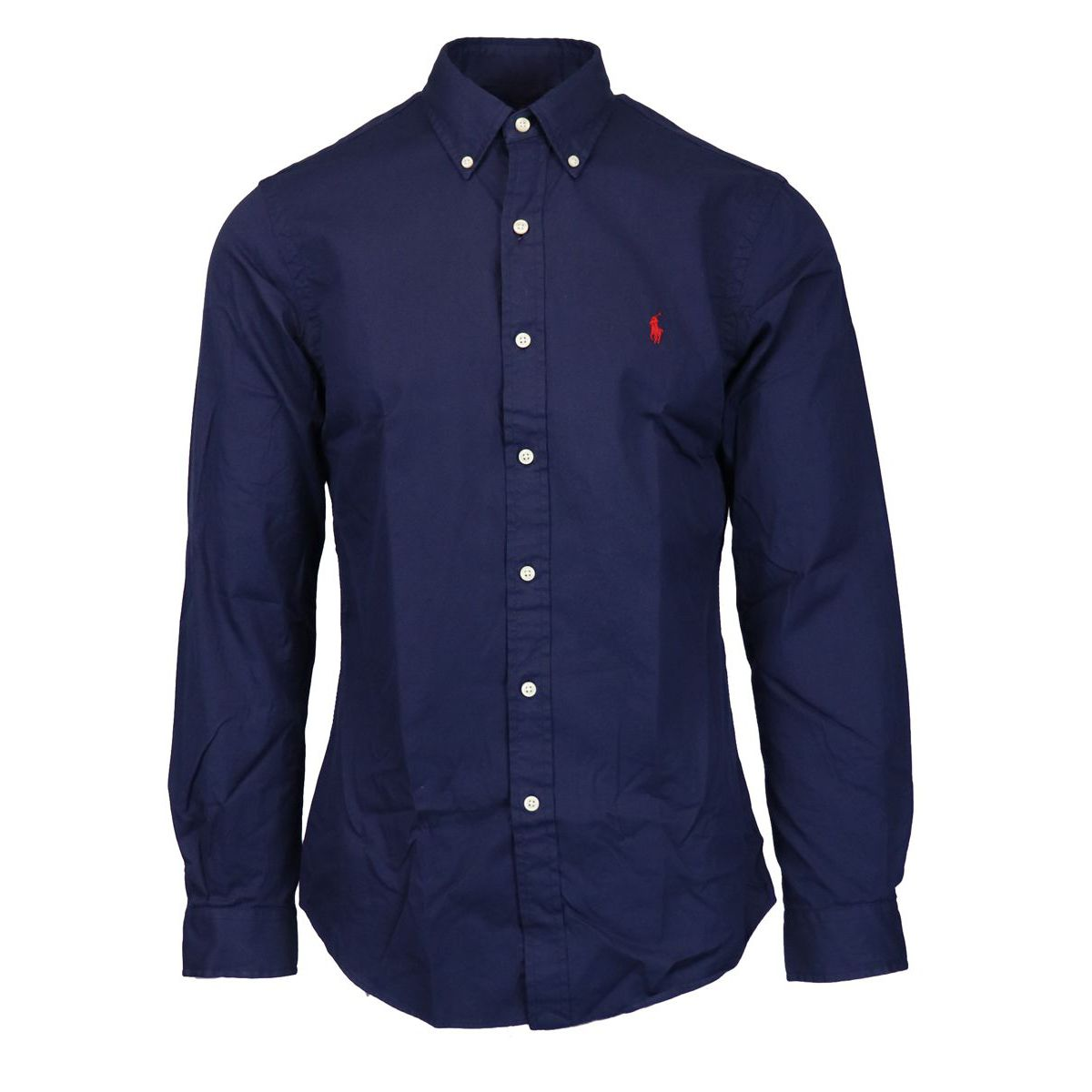 Button-down shirt in slim-fit cotton Navy Polo Ralph Lauren