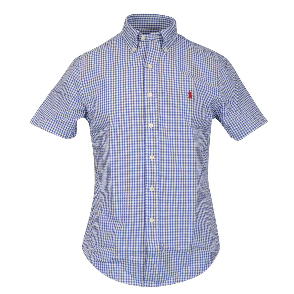 Custom-fit button-down cotton shirt Blue Polo Ralph Lauren