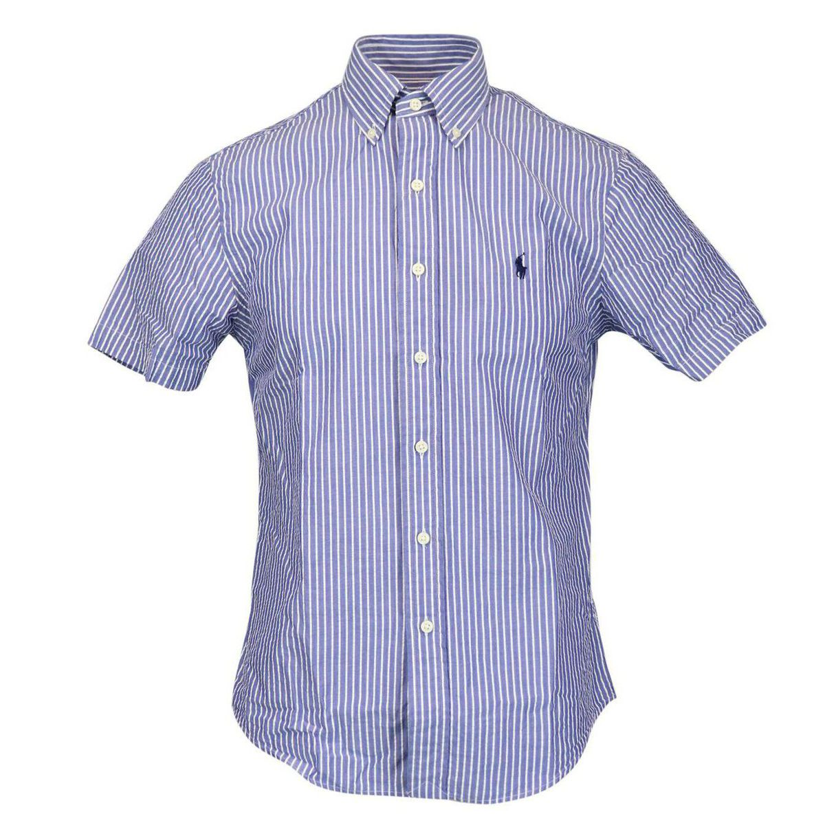 Custom-fit button-down cotton shirt Navy / b.co Polo Ralph Lauren