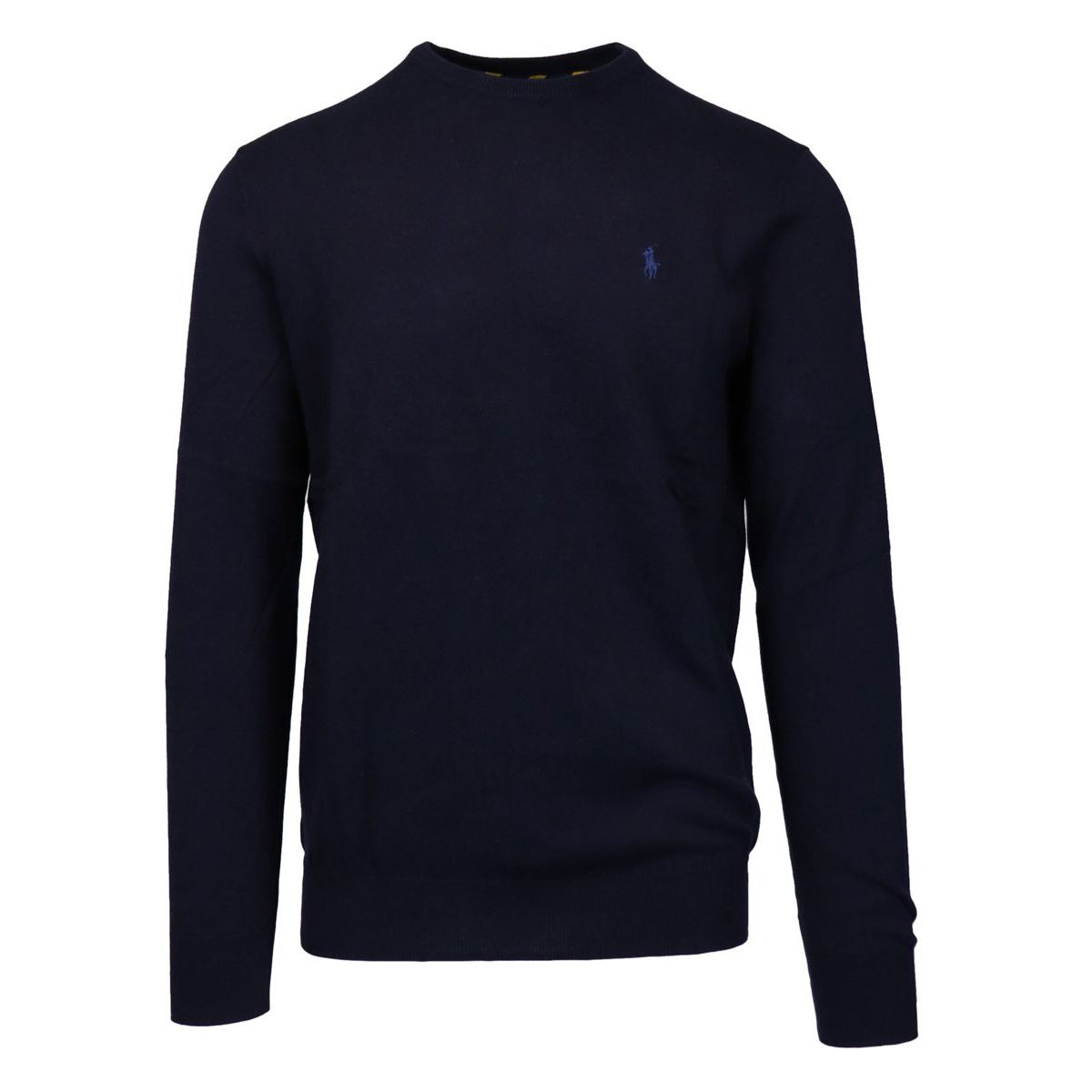 Crewneck cotton pullover with logo embroidery Navy Polo Ralph Lauren