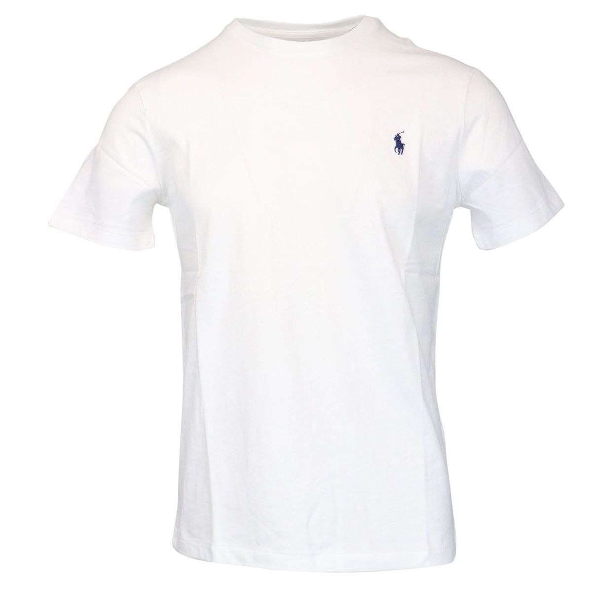 Cotton T-shirt with contrasting logo embroidery White Polo Ralph Lauren