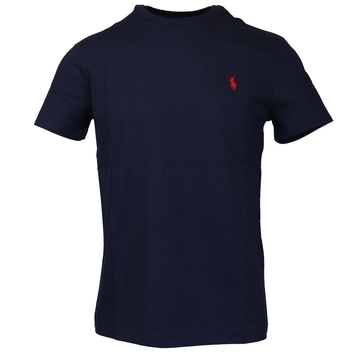 Cotton T-shirt with contrasting logo embroidery Ink Polo Ralph Lauren