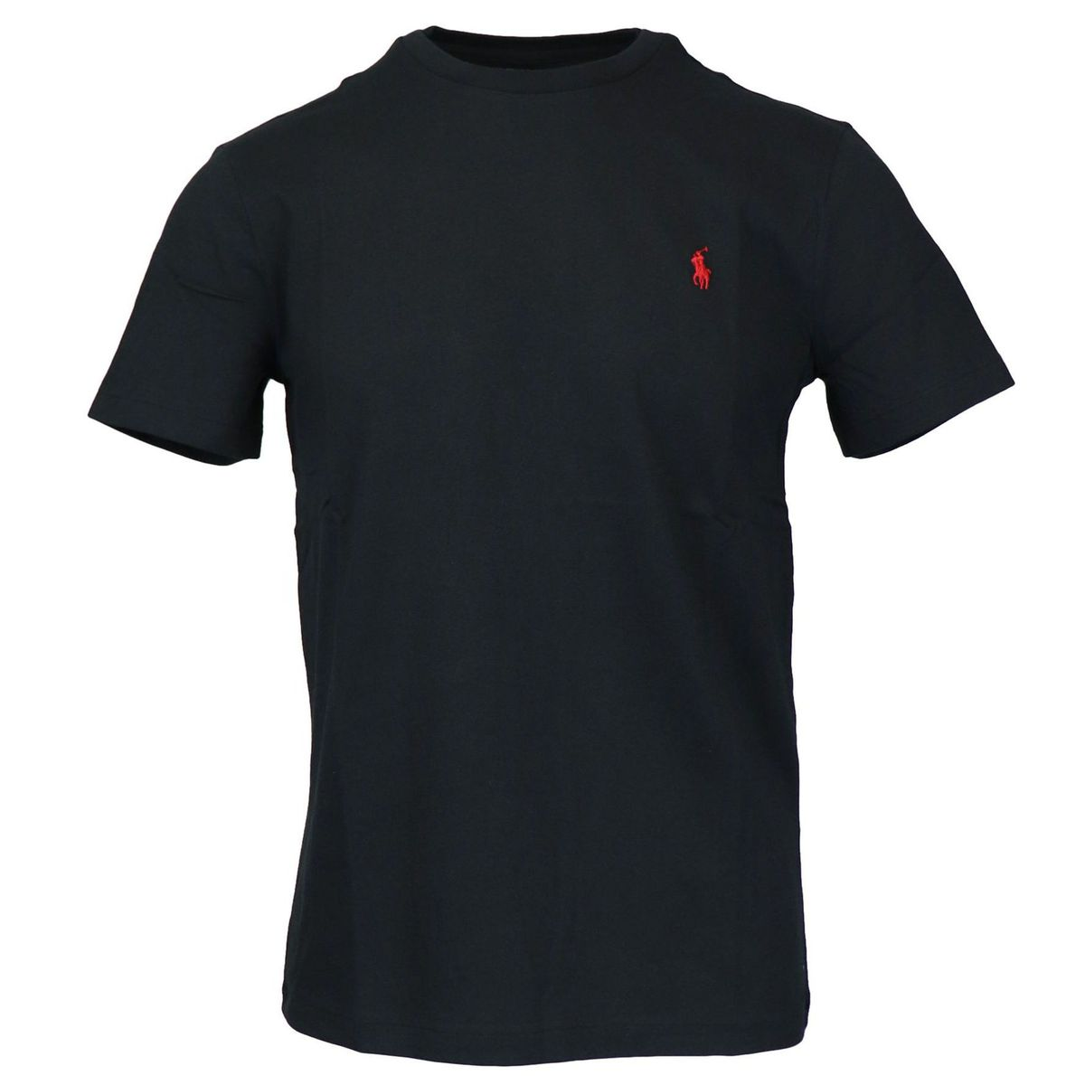 Cotton T-shirt with contrasting logo embroidery Black Polo Ralph Lauren