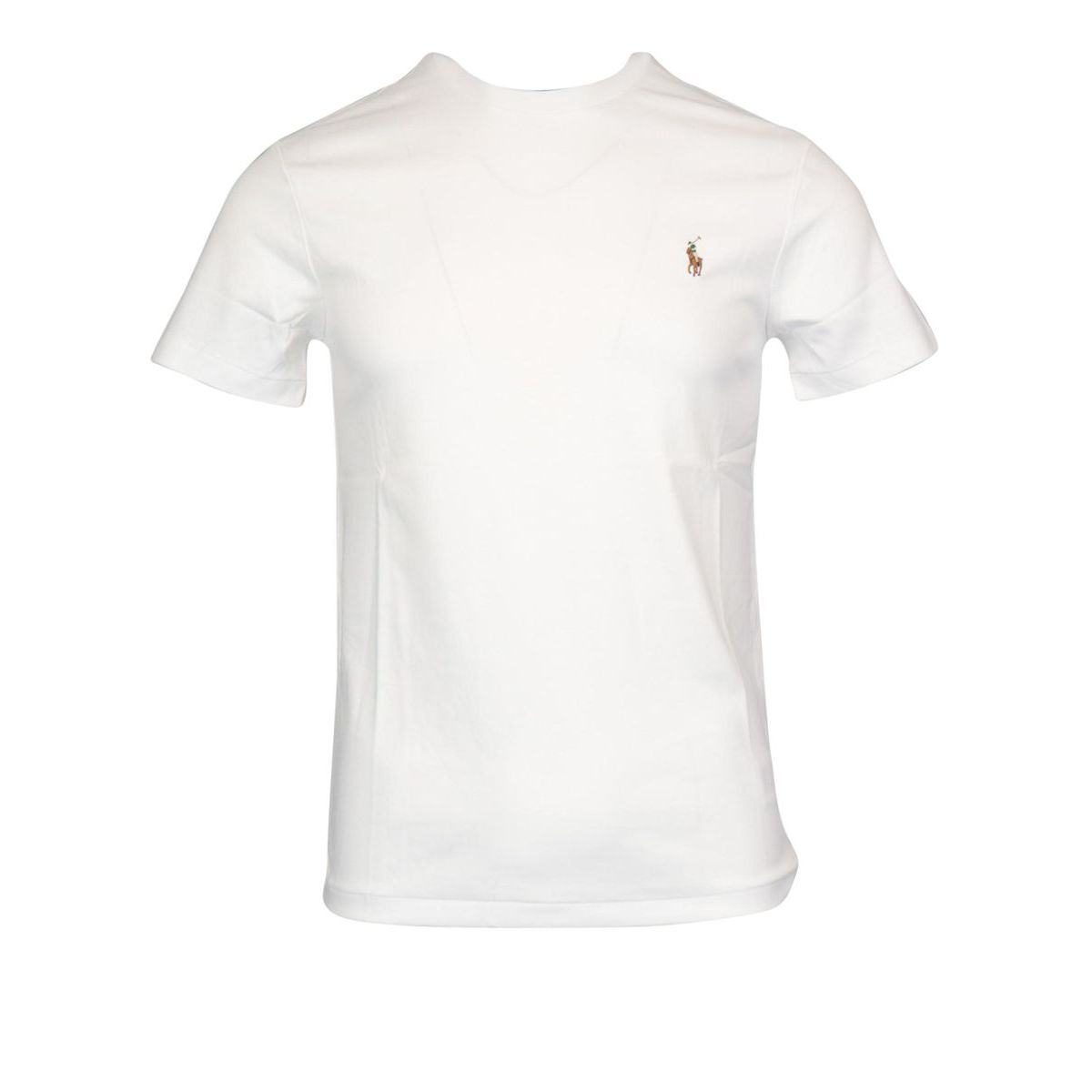 Crew neck t-shirt in cotton jersey with logo embroidery White Polo Ralph Lauren