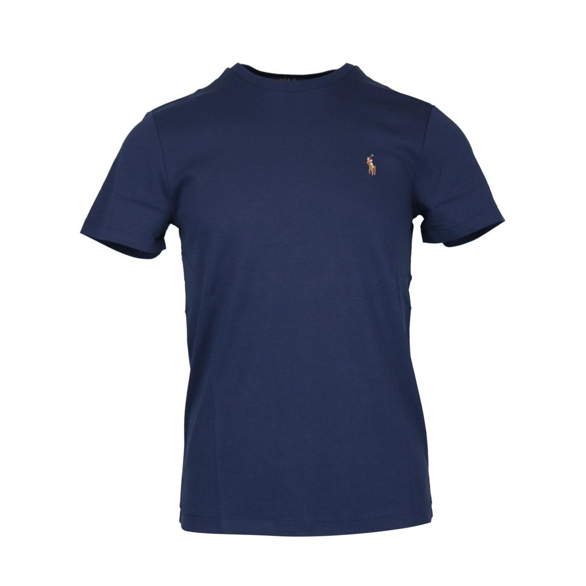Crew neck t-shirt in cotton jersey with logo embroidery Navy Polo Ralph Lauren