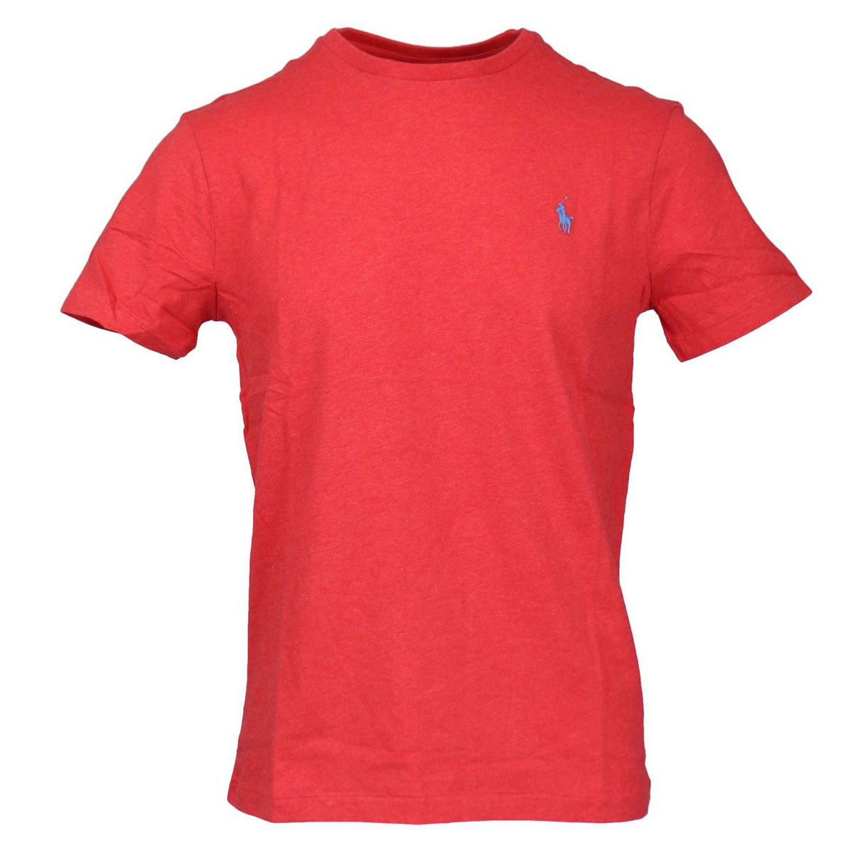 Cotton T-shirt with contrasting logo embroidery Red Polo Ralph Lauren
