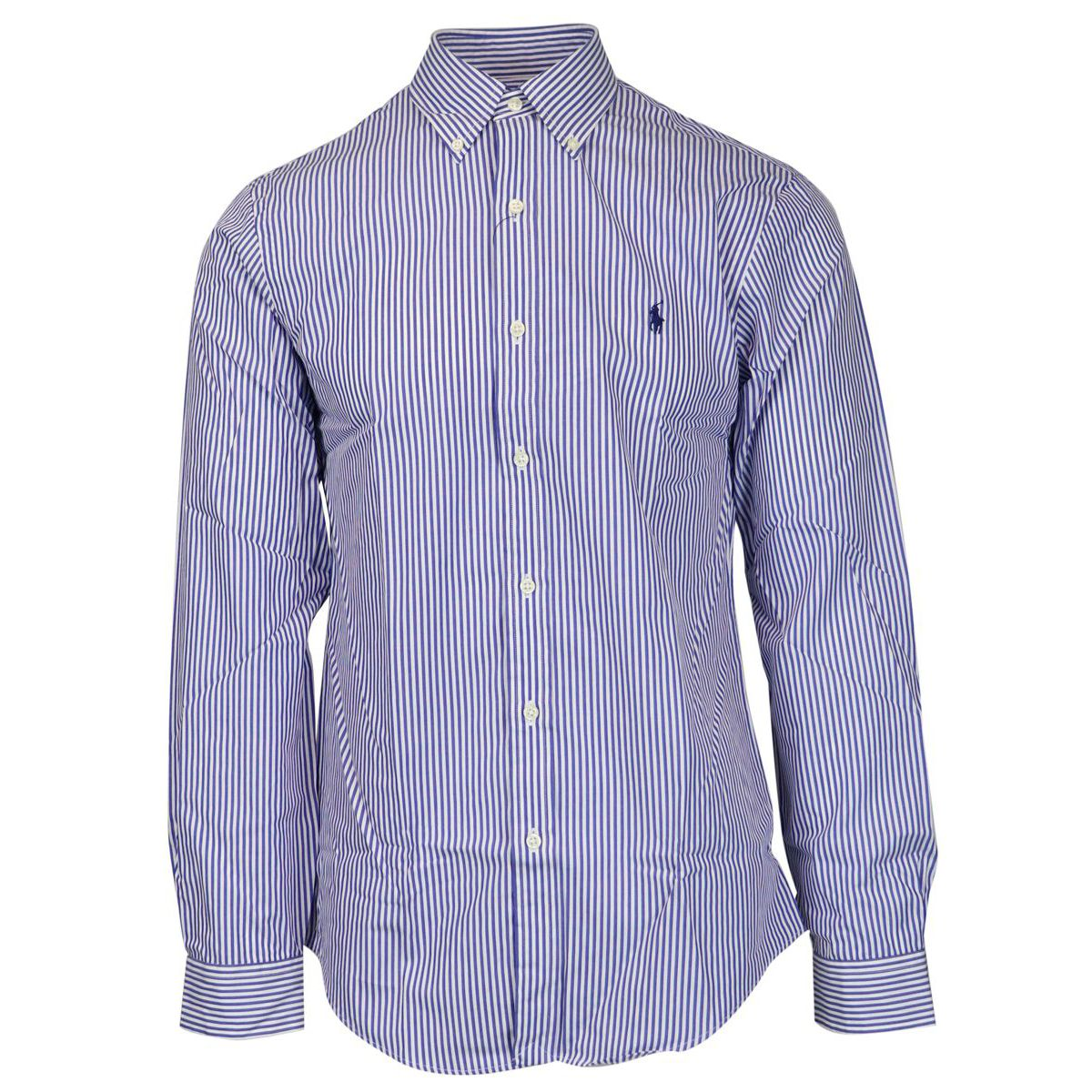 Slim-fit button-down striped cotton shirt Blue / white Polo Ralph Lauren