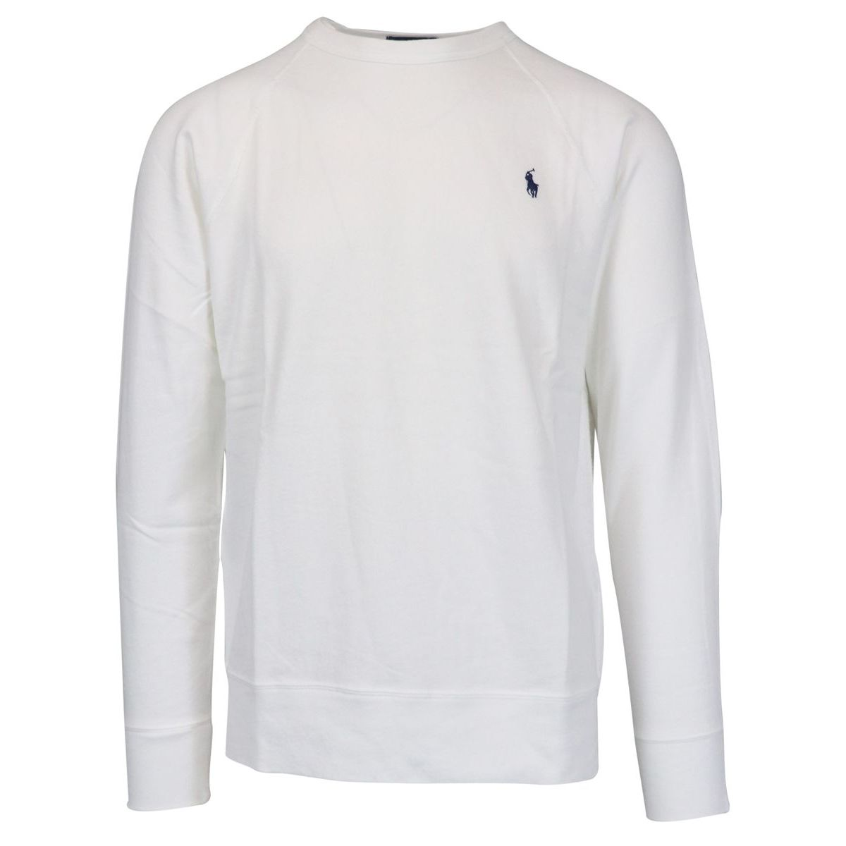 Crewneck cotton sweatshirt with contrasting logo embroidery White Polo Ralph Lauren