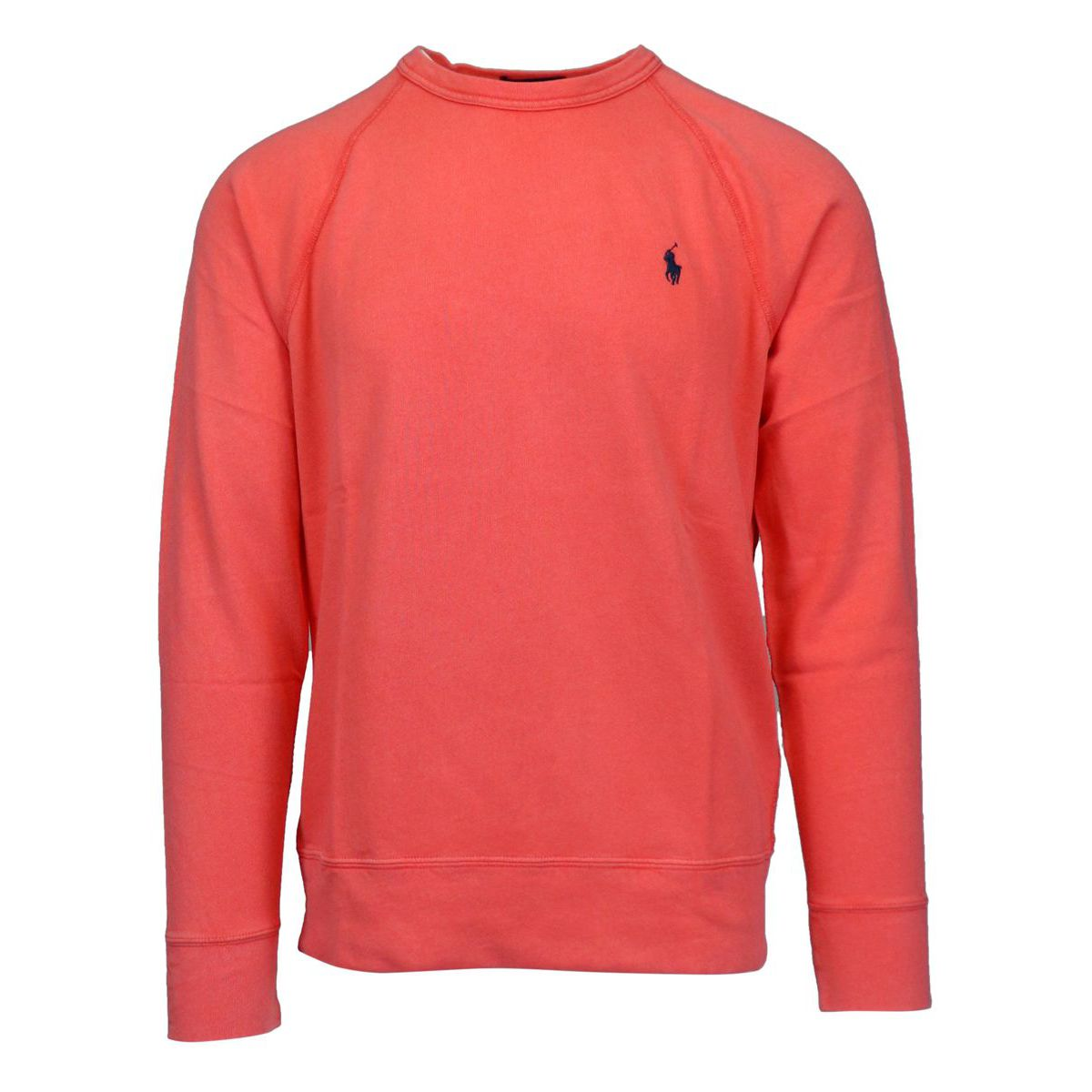 Crewneck cotton sweatshirt with contrasting logo embroidery Coral Polo Ralph Lauren