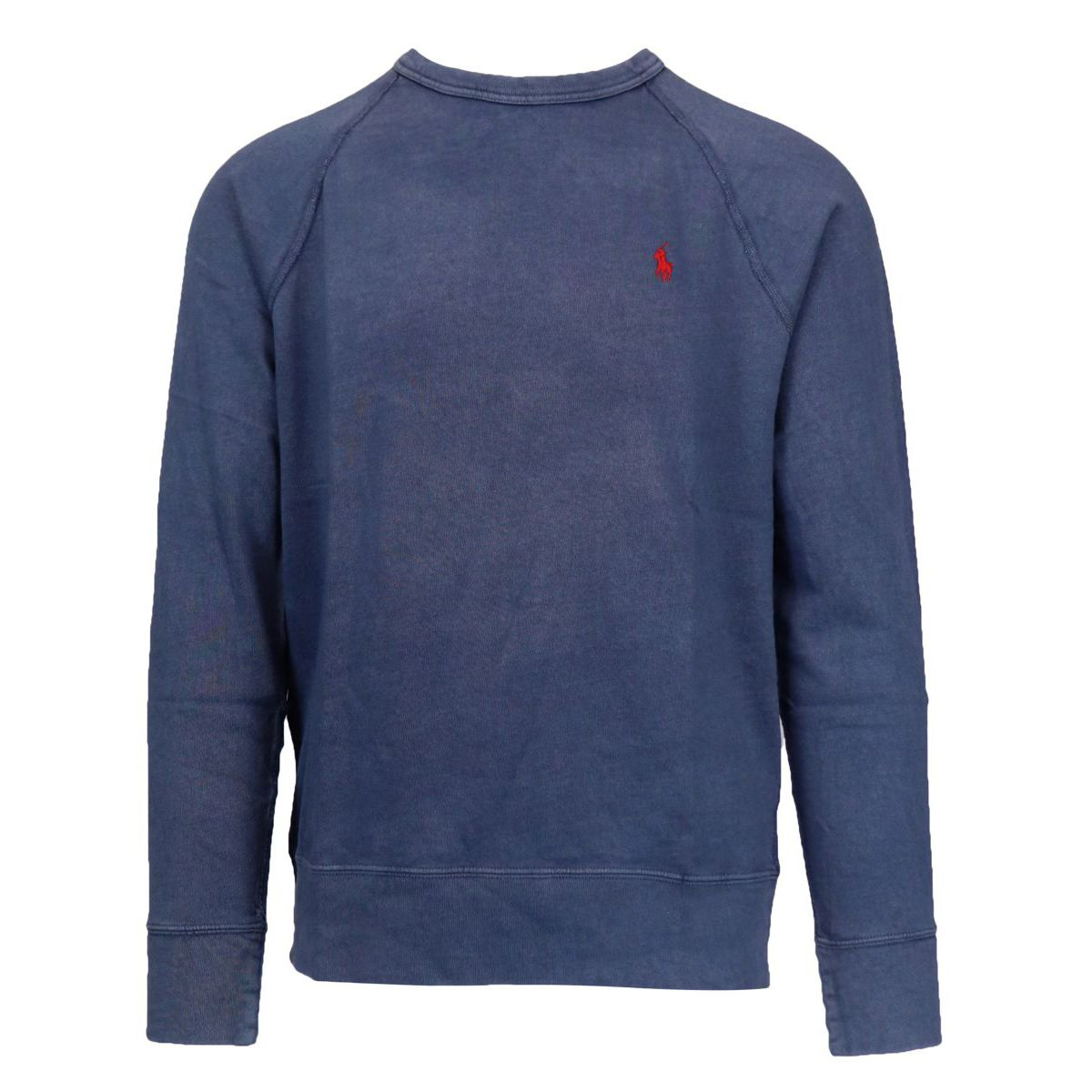 Crewneck cotton sweatshirt with contrasting logo embroidery Navy Polo Ralph Lauren