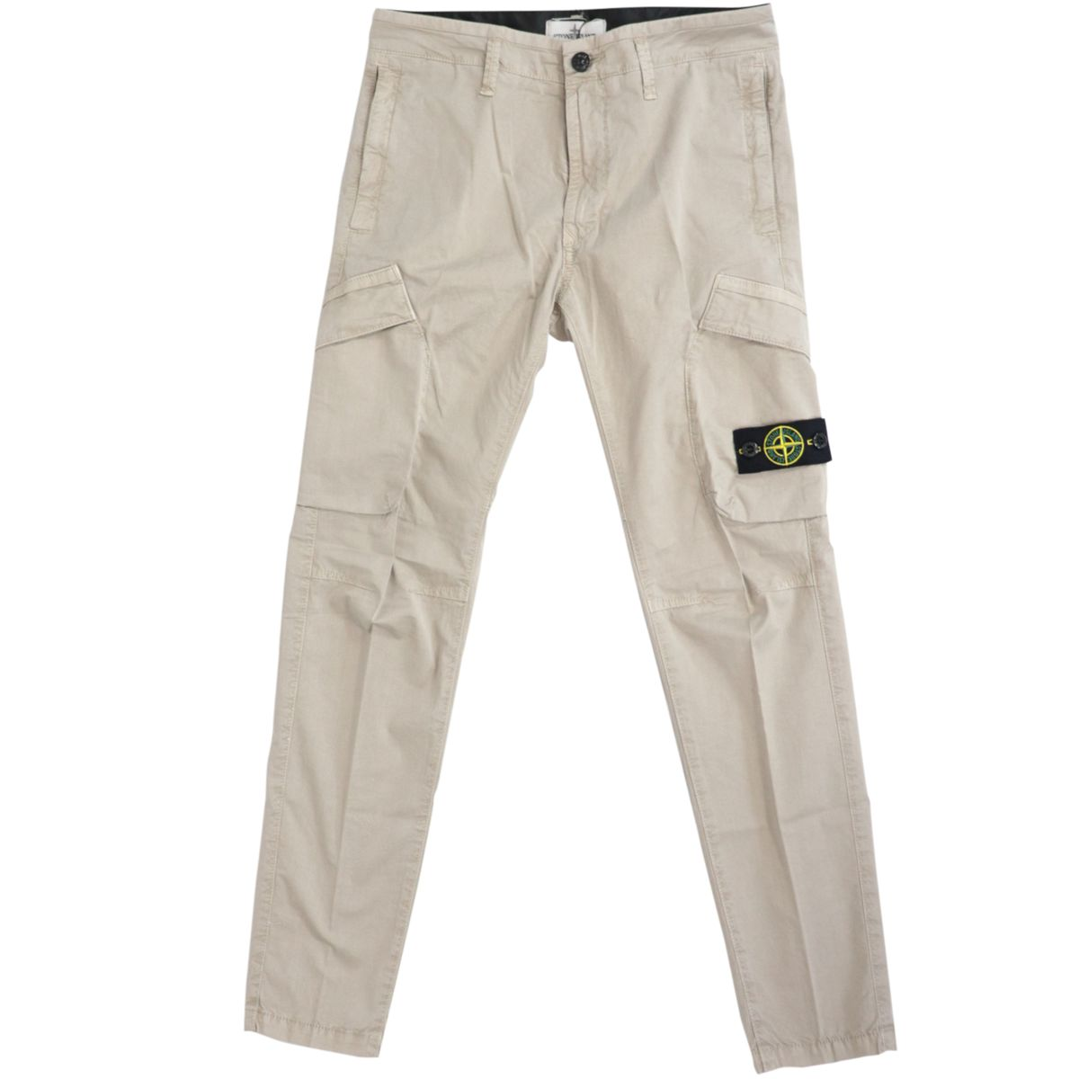 Cargo trousers in cotton with pockets and logo patch Sand STONE ISLAND JUNIOR
