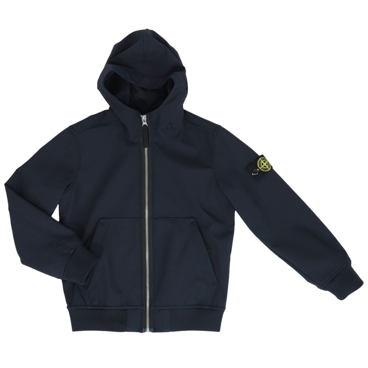 Soft Shell-R jacket with hood and zip Blue STONE ISLAND JUNIOR