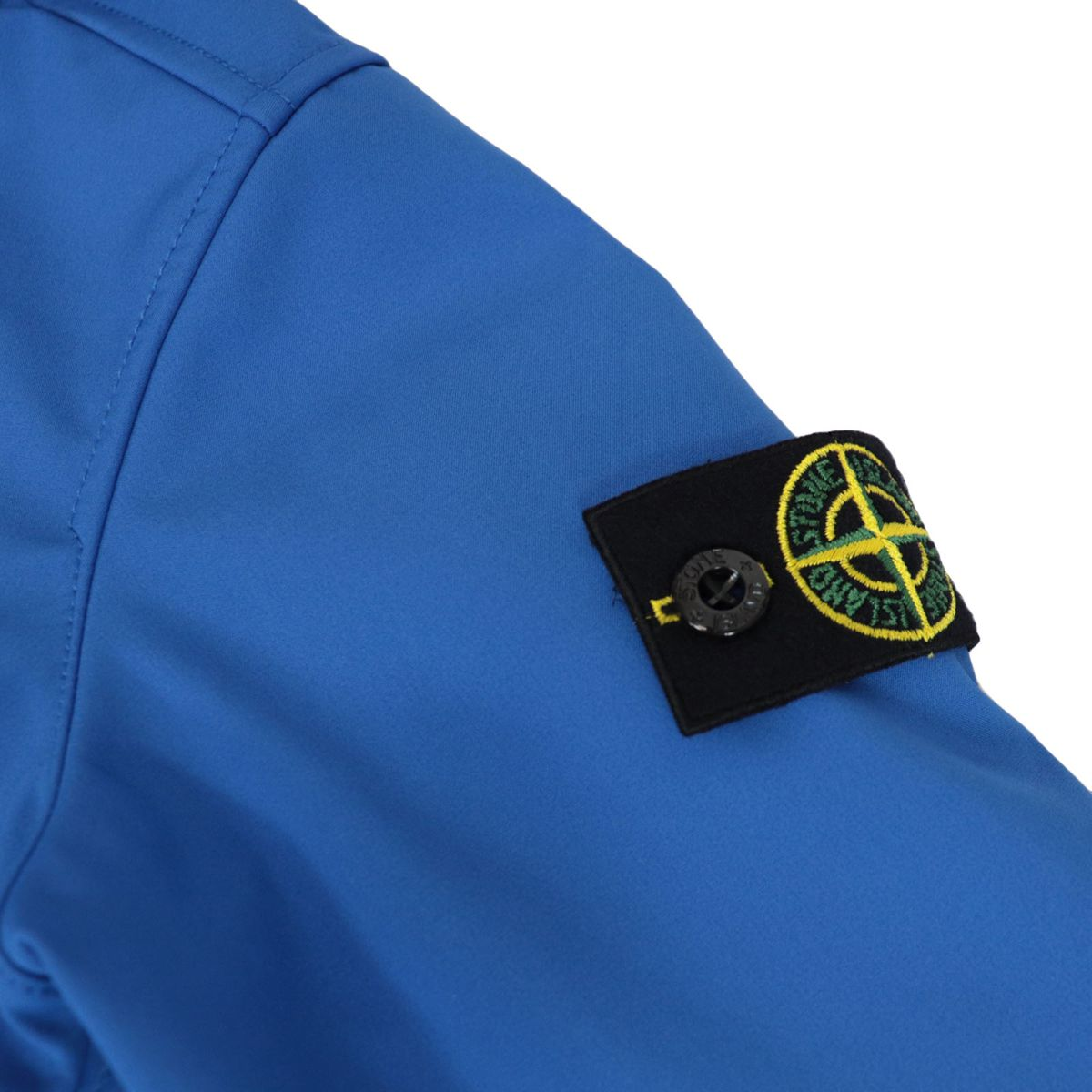 Soft Shell-R jacket with hood and zip Royal STONE ISLAND JUNIOR