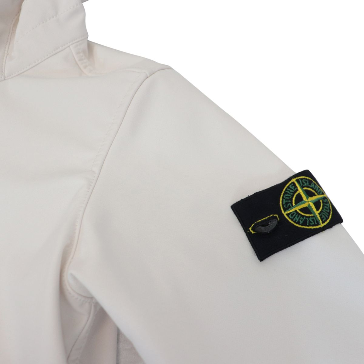 Soft Shell-R jacket with hood and zip Stucco STONE ISLAND JUNIOR