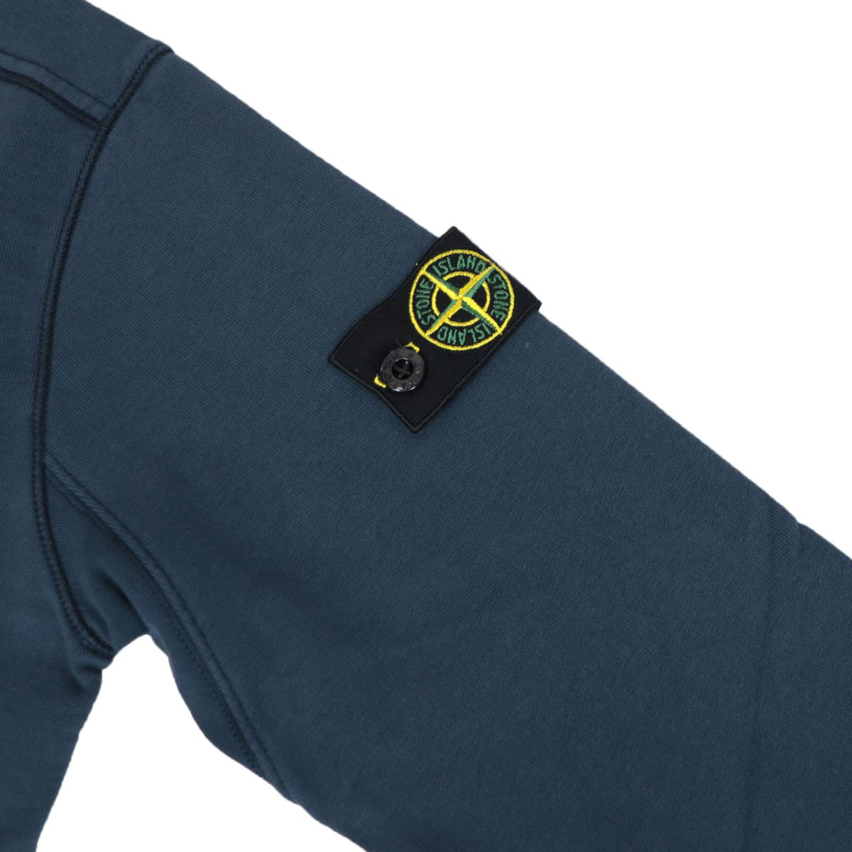 Crewneck cotton sweatshirt with logo patch Blue STONE ISLAND JUNIOR