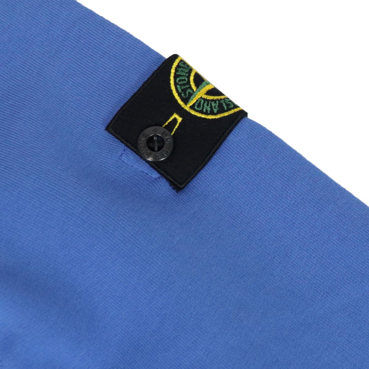 Crewneck cotton sweatshirt with logo patch Ink STONE ISLAND JUNIOR