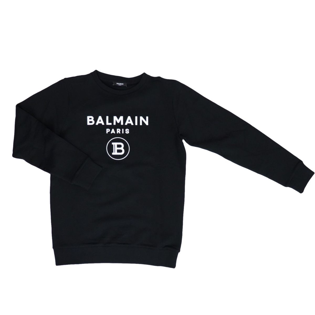 Cotton sweatshirt with logo print Black BALMAIN