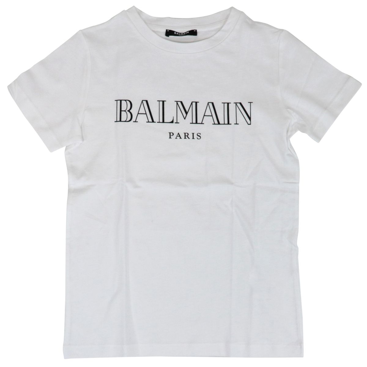 Cotton T-shirt with contrasting logo print White BALMAIN