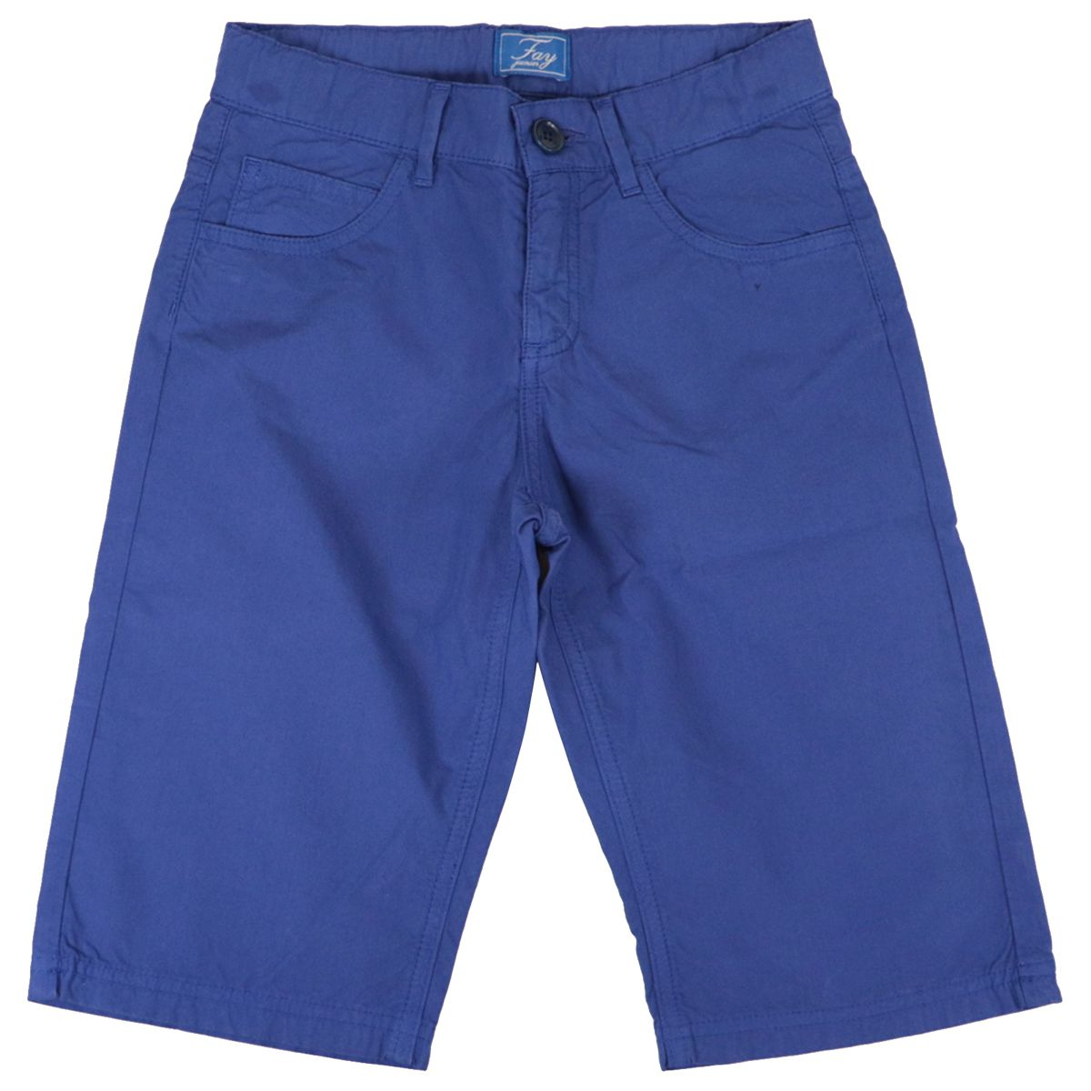 Classic cotton shorts with logo on the back Bluette Fay