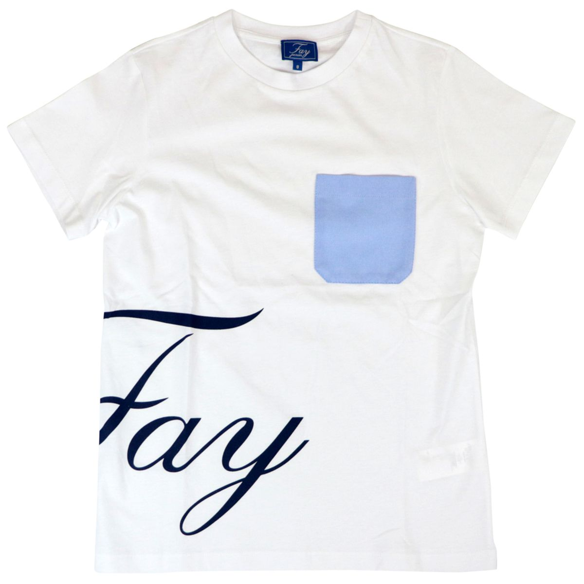 Cotton t-shirt with logo print and pocket White Fay
