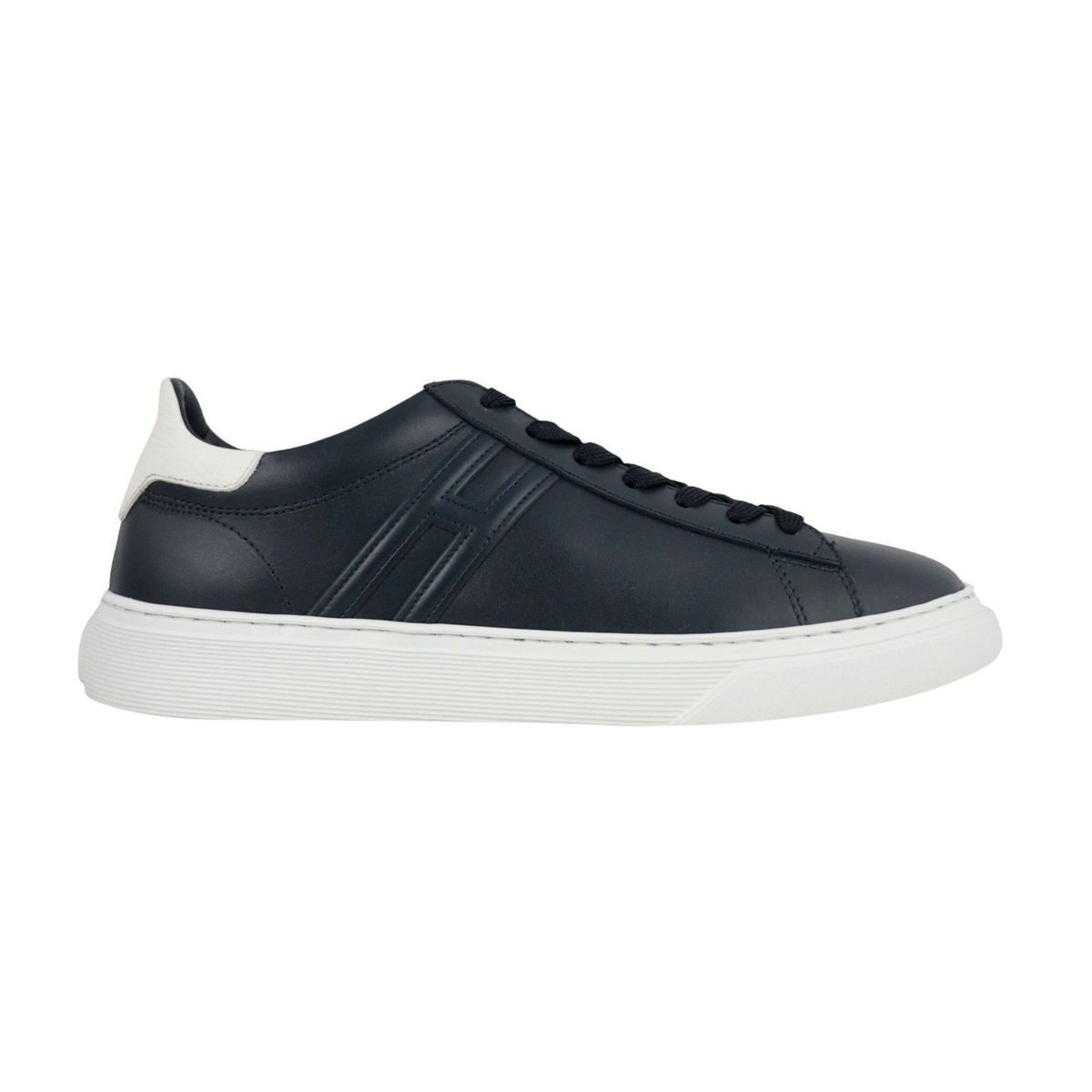 365 leather bottom sneakers Navy Hogan