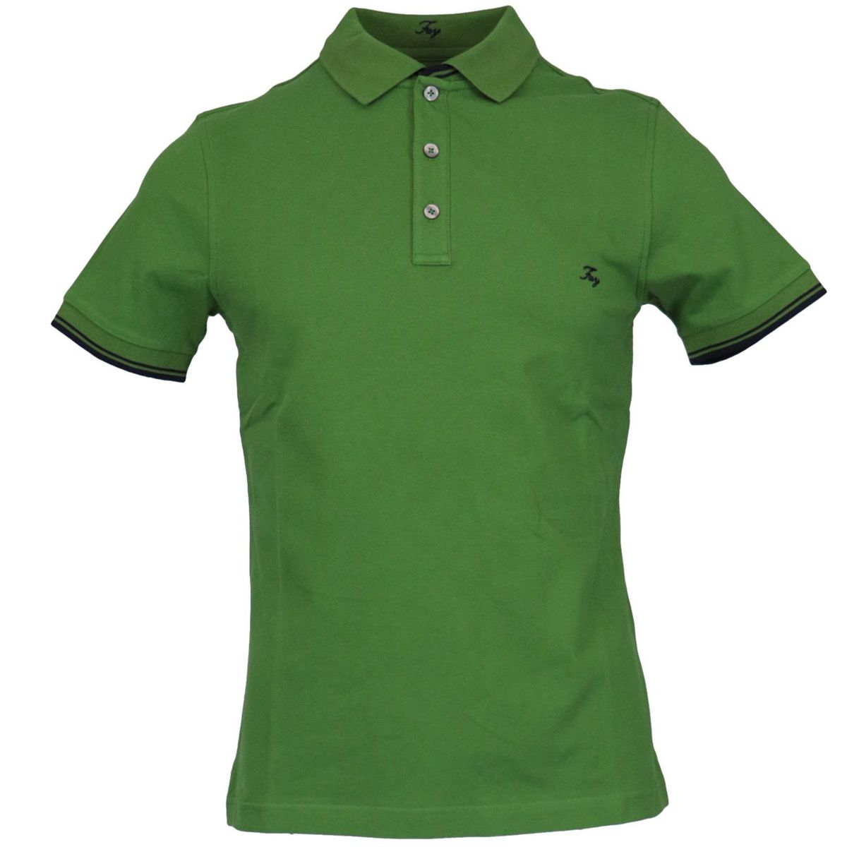 Stretch cotton polo shirt with logo embroidery Meadow Fay