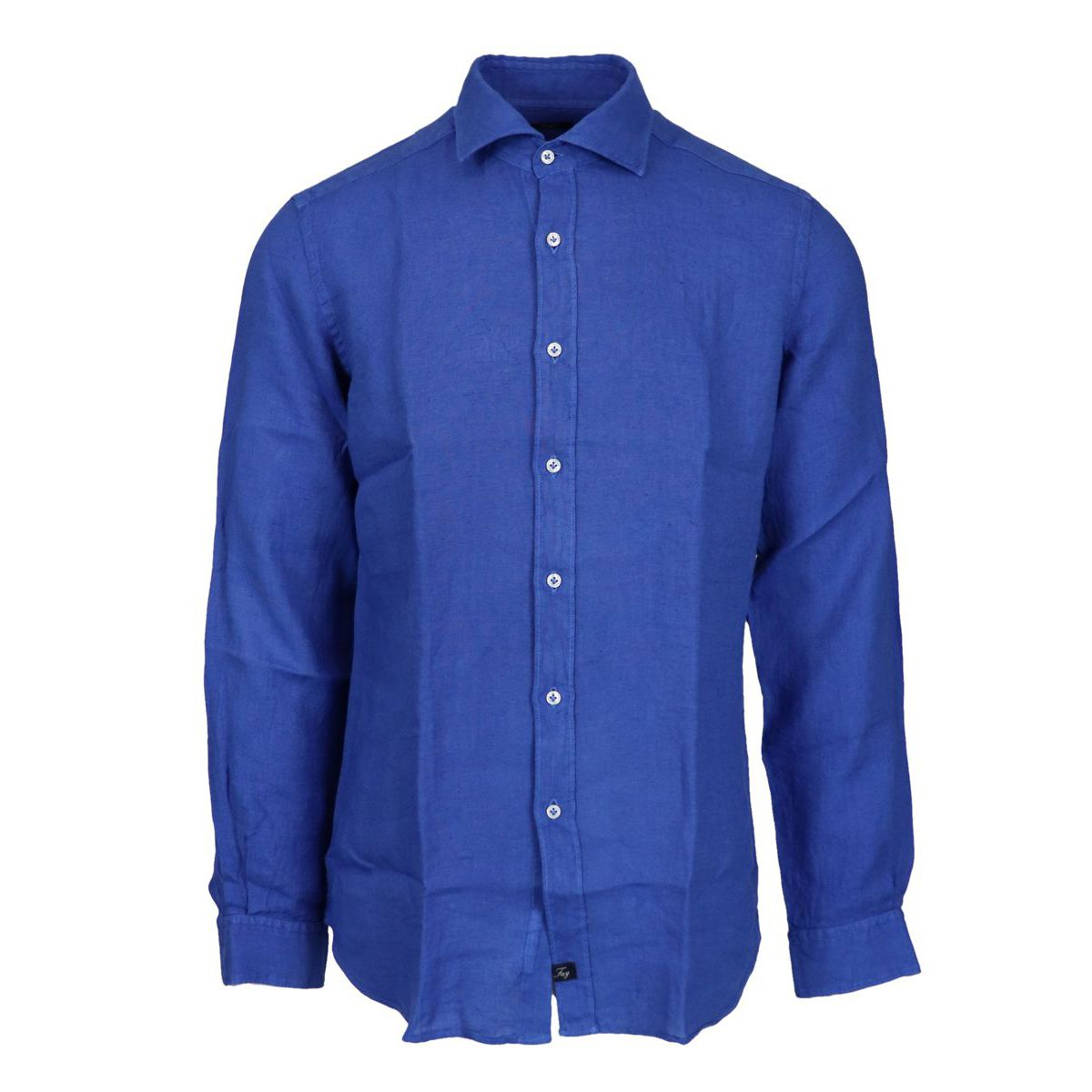 Slim-fit linen shirt with French collar Royal Fay