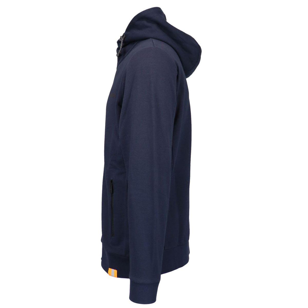 Full zip cotton hoodie Navy Hogan
