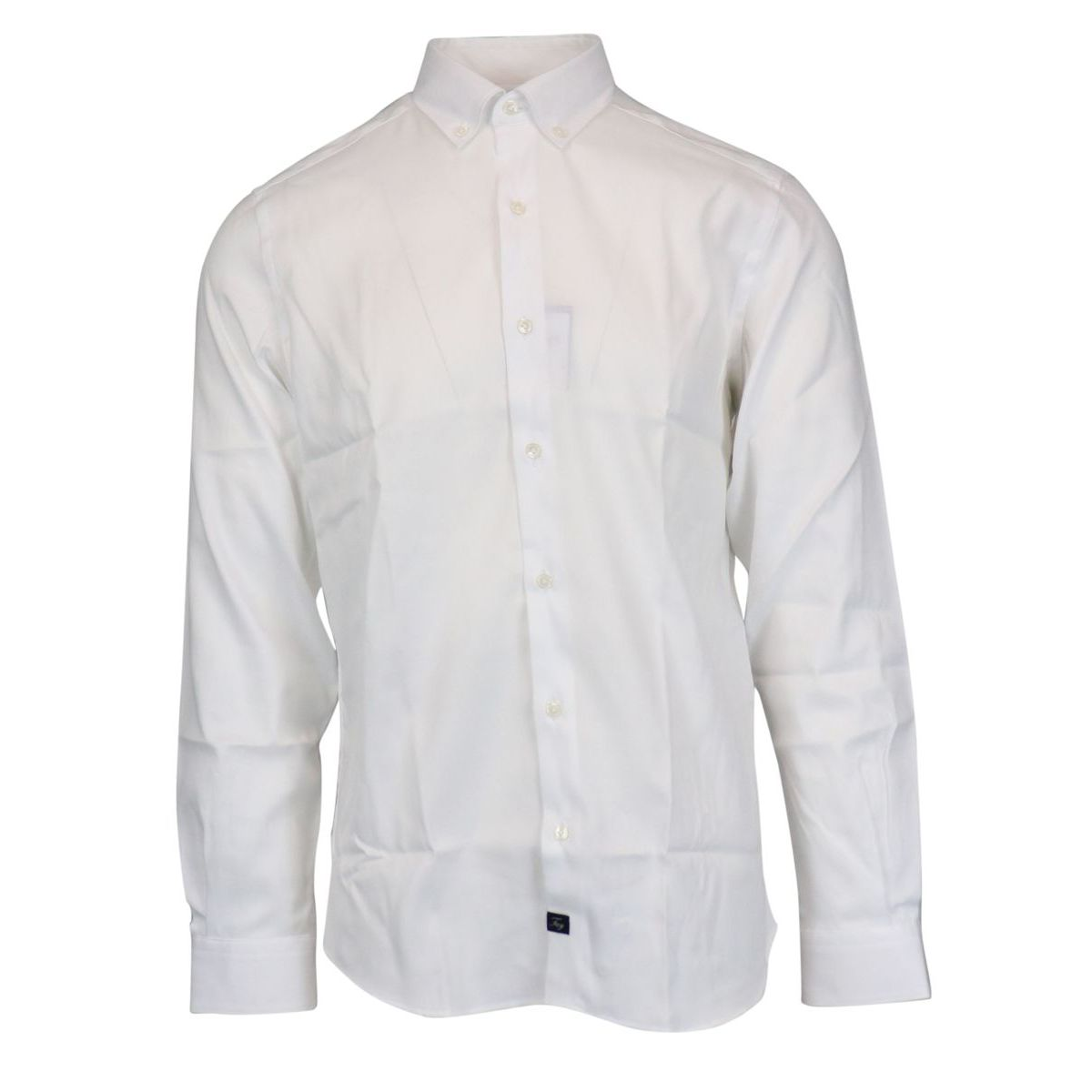 Button-down shirt in slim-fit cotton White Fay