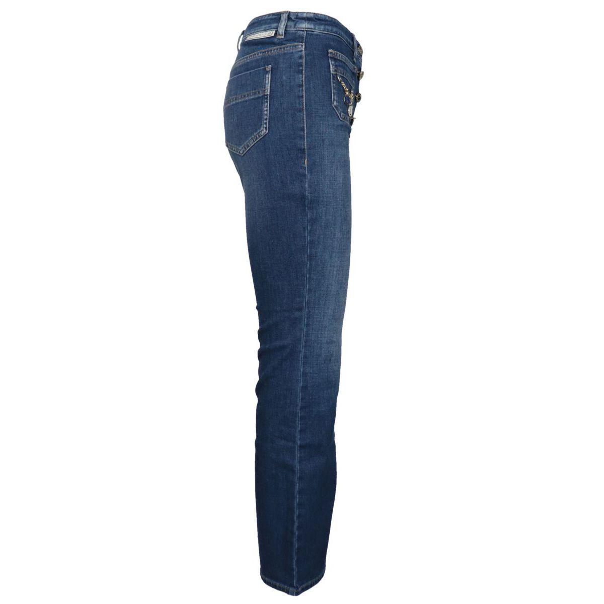 Jeans aderente taglio al polpaccio Blu/denim Elisabetta Franchi