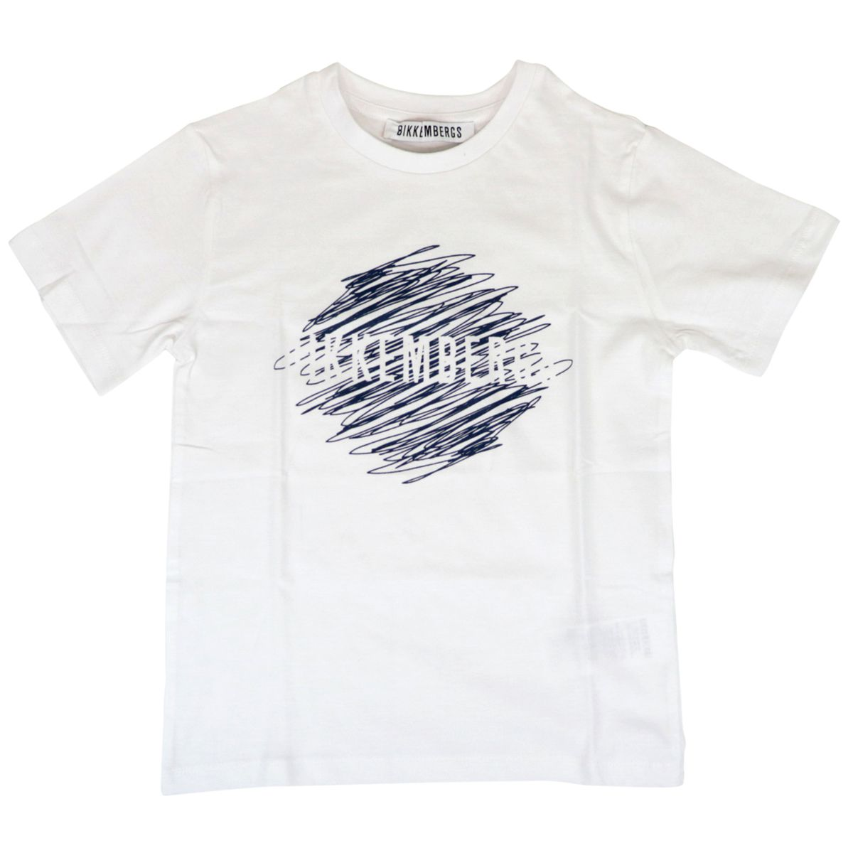 Short-sleeved cotton crew-neck t-shirt with print White Bikkembergs