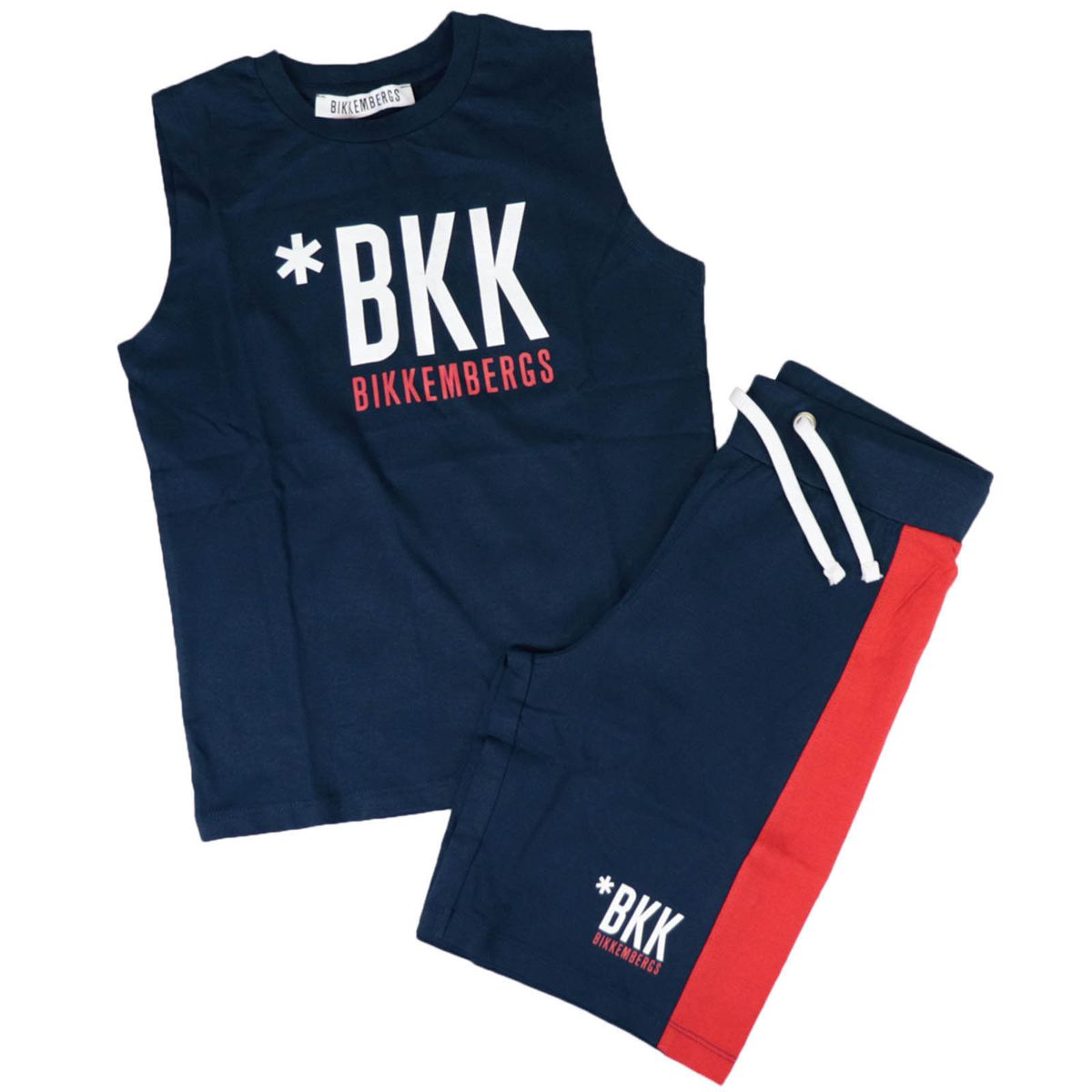 Cotton set with logo print Blue Bikkembergs