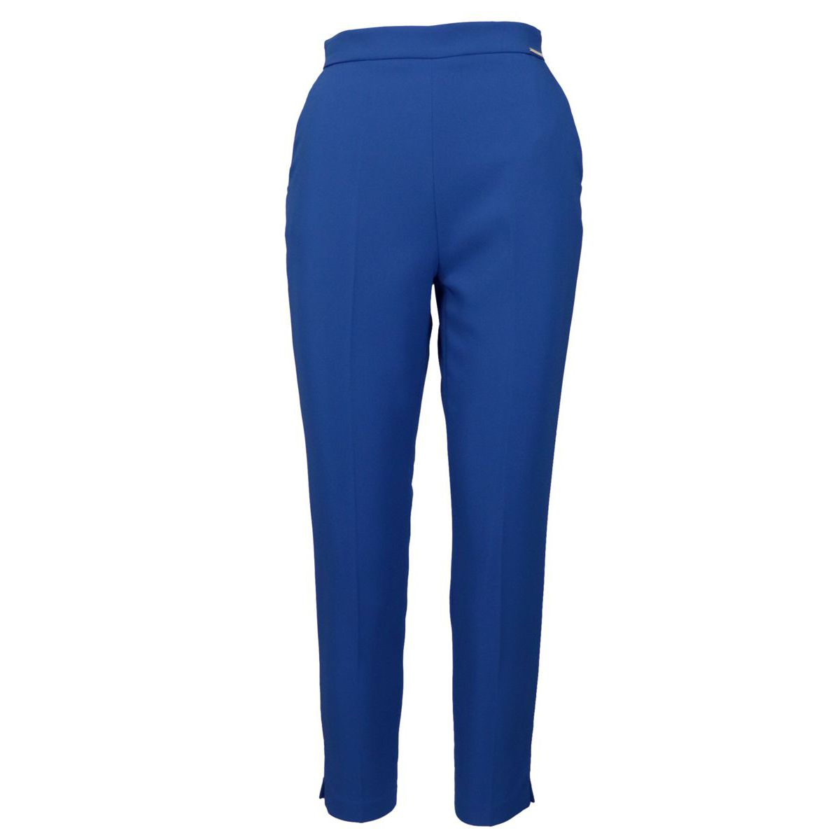 Pantalone a sigaretta in tessuto bielastico Cobalto Elisabetta Franchi