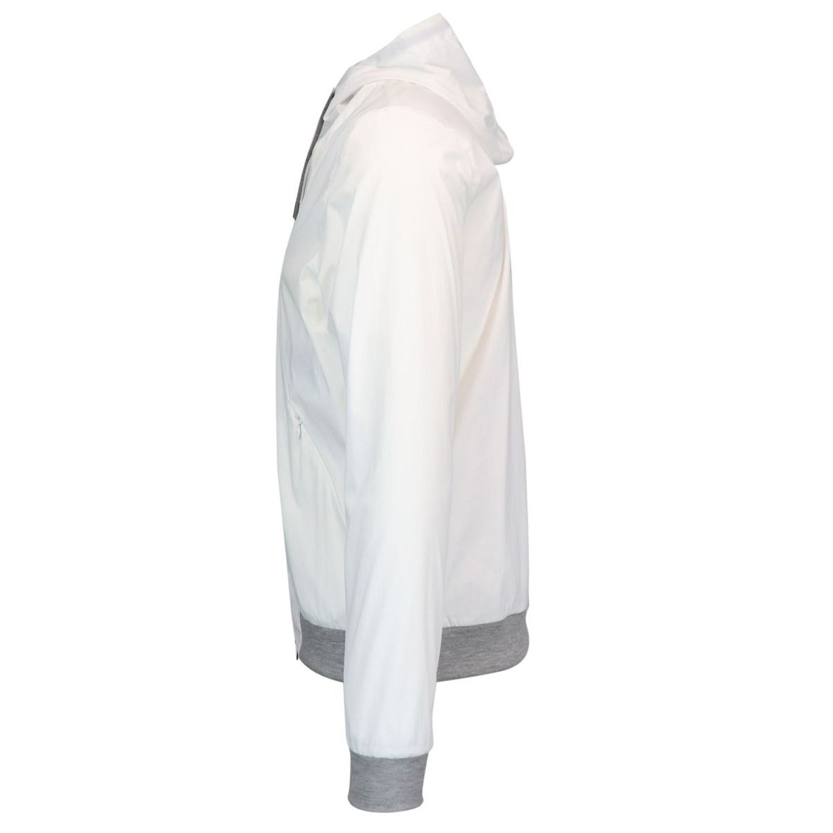 Nylon jacket with hood and zip White Herno