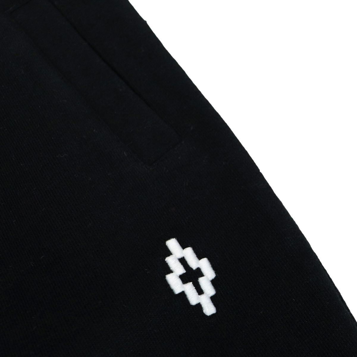 Sports trousers with cuffs and contrasting logo Black MARCELO BURLON